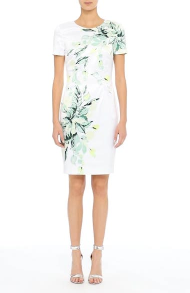 Leaf Print Sheath Dress, video thumbnail