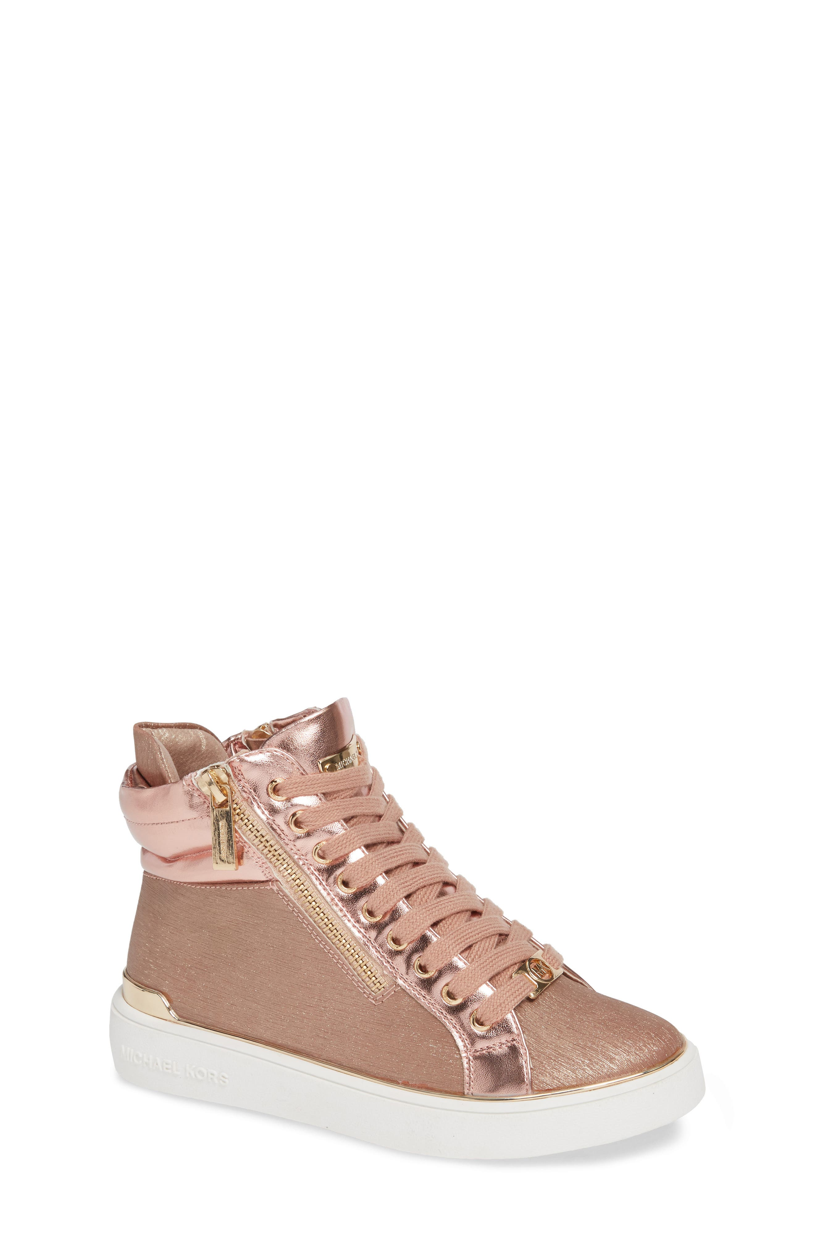 High Top Sneaker,                         Main,                         color, ROSE GOLD