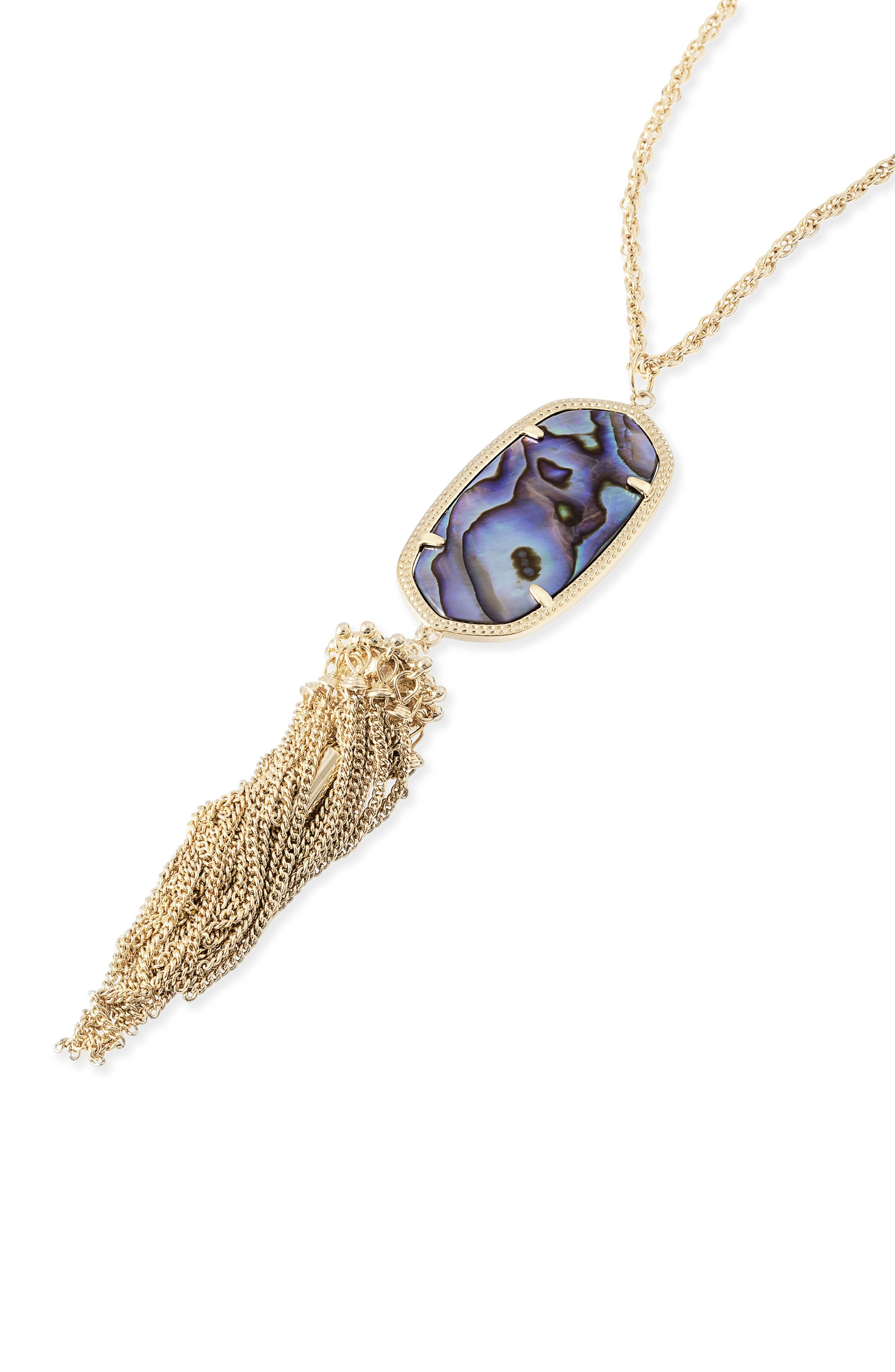 Rayne Stone Tassel Pendant Necklace,                             Alternate thumbnail 245, color,