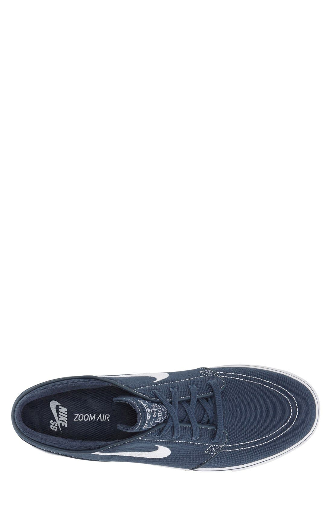 Zoom - Stefan Janoski SB Canvas Skate Shoe,                             Alternate thumbnail 120, color,