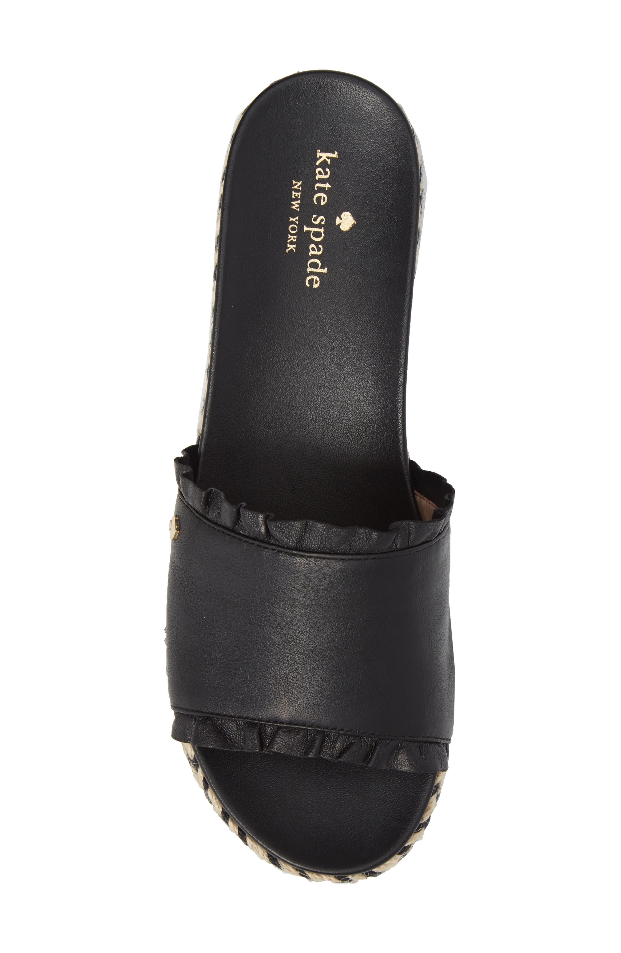 zahara slide sandal,                             Alternate thumbnail 5, color,                             BLACK NAPPA