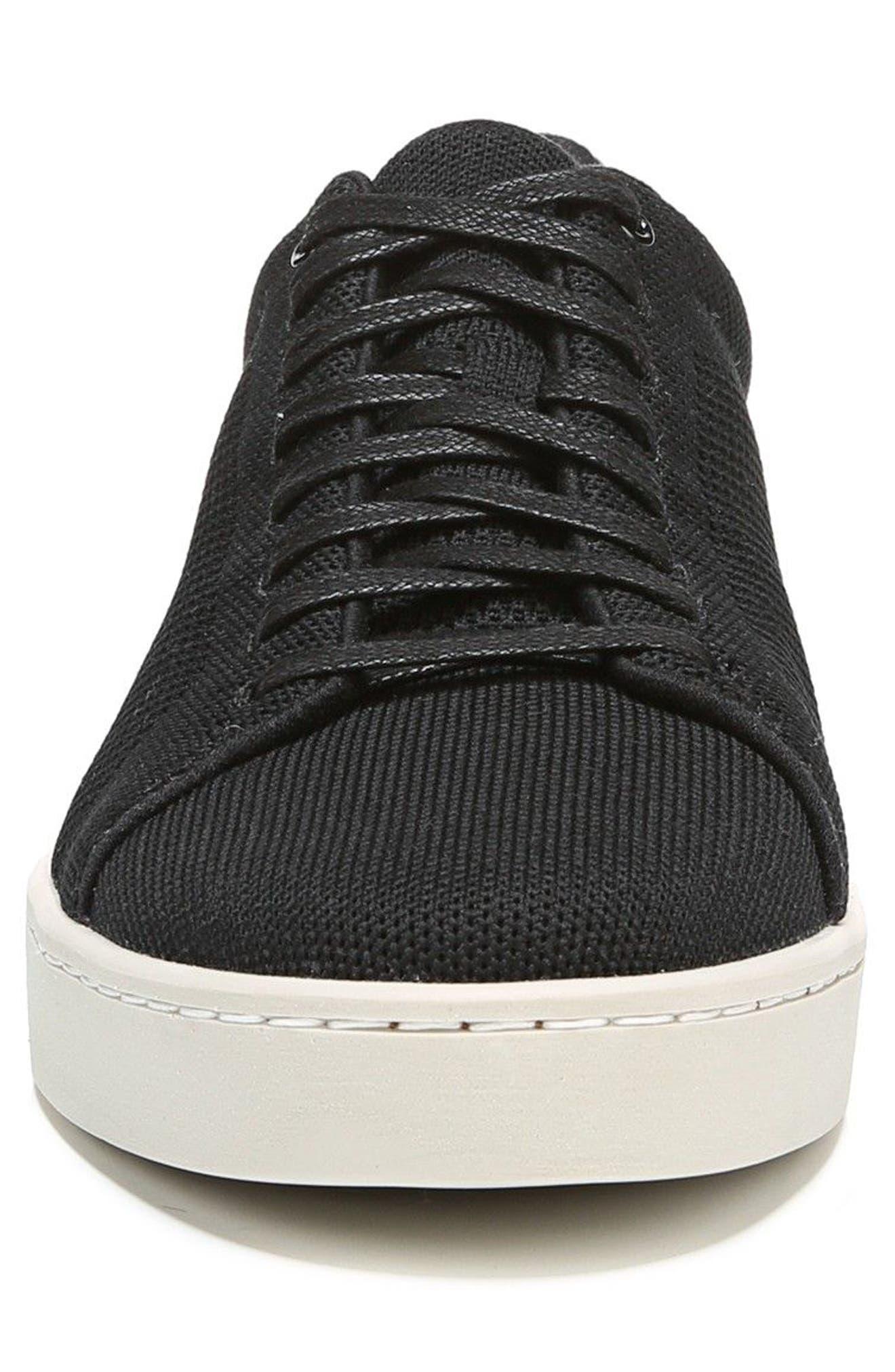 Silos Knit Low Top Sneaker,                             Alternate thumbnail 4, color,                             BLACK/ GRAPHITE