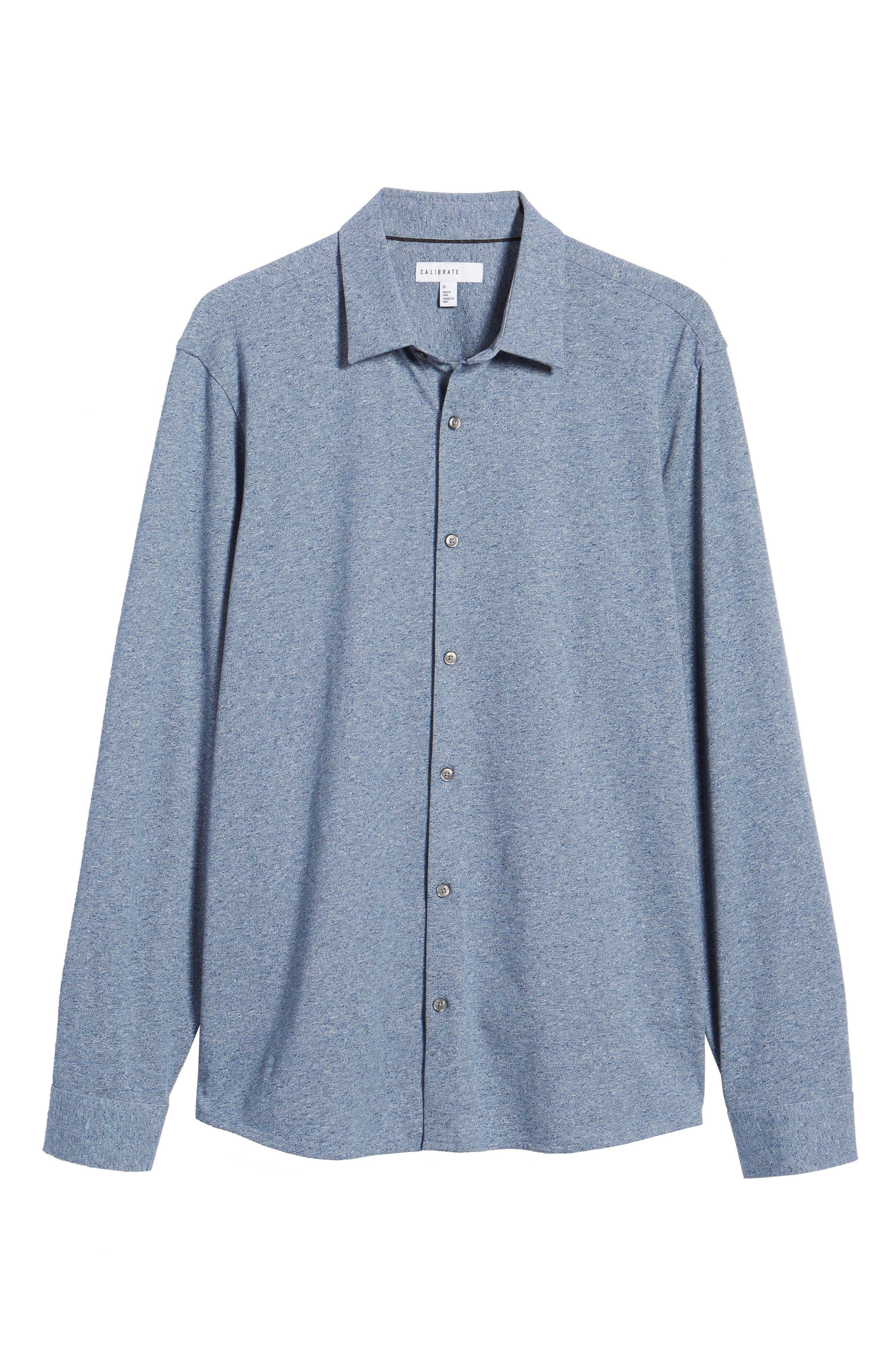Knit Sport Shirt,                             Alternate thumbnail 6, color,                             030