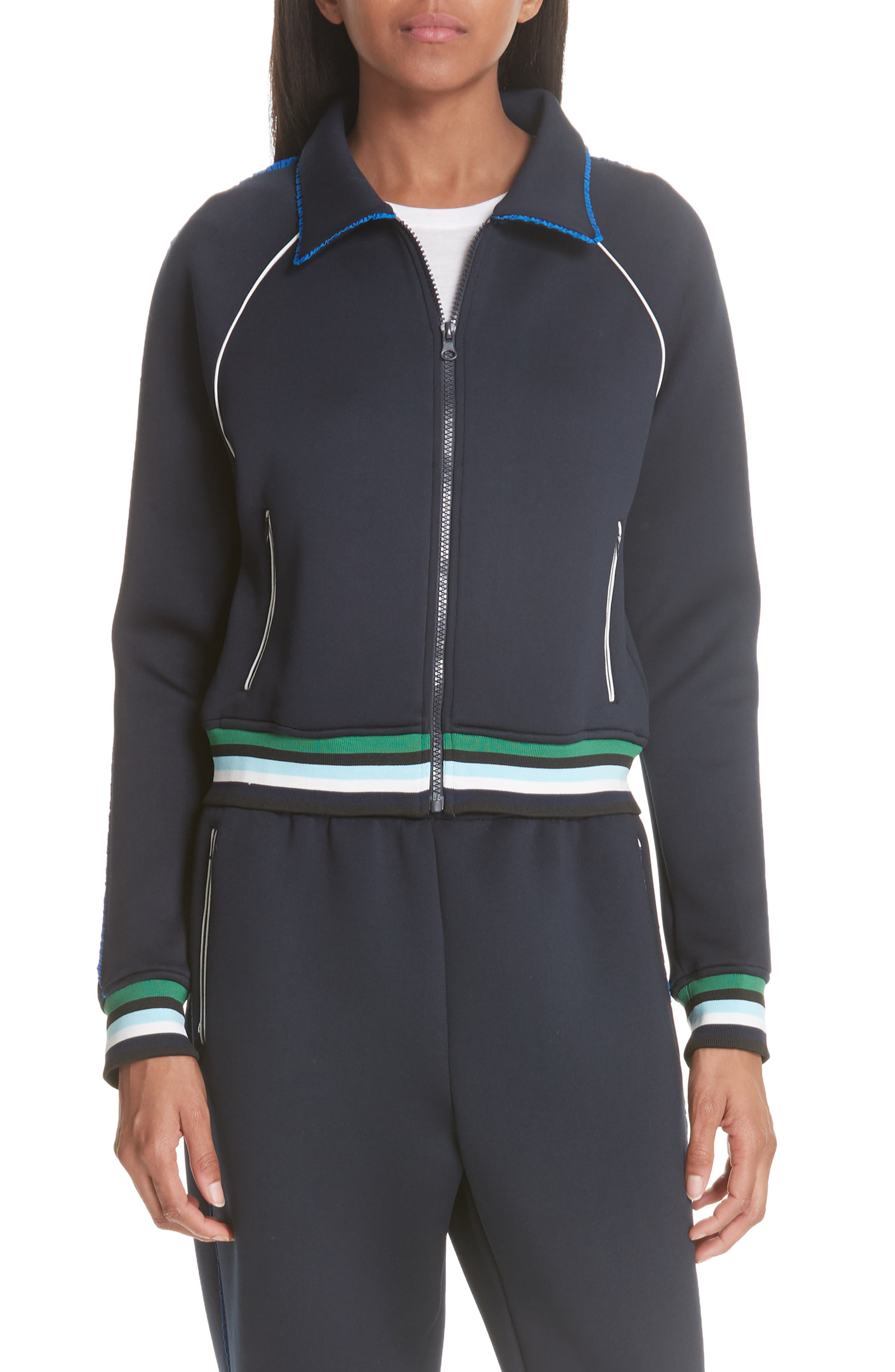 Spongy Track Jacket,                         Main,                         color, PERSIAN BLUE