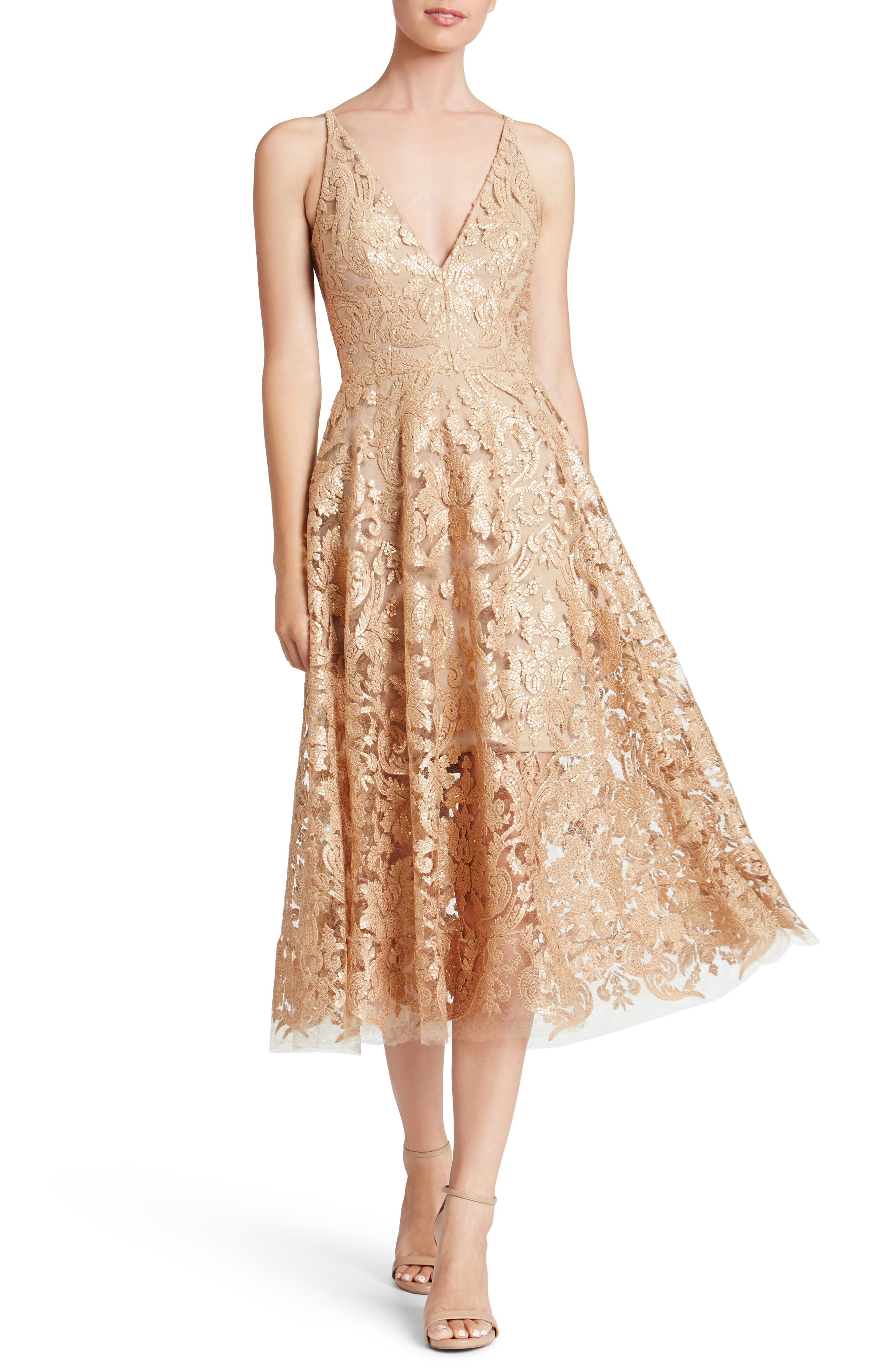 Blair Embellished Fit & Flare Dress,                             Main thumbnail 7, color,