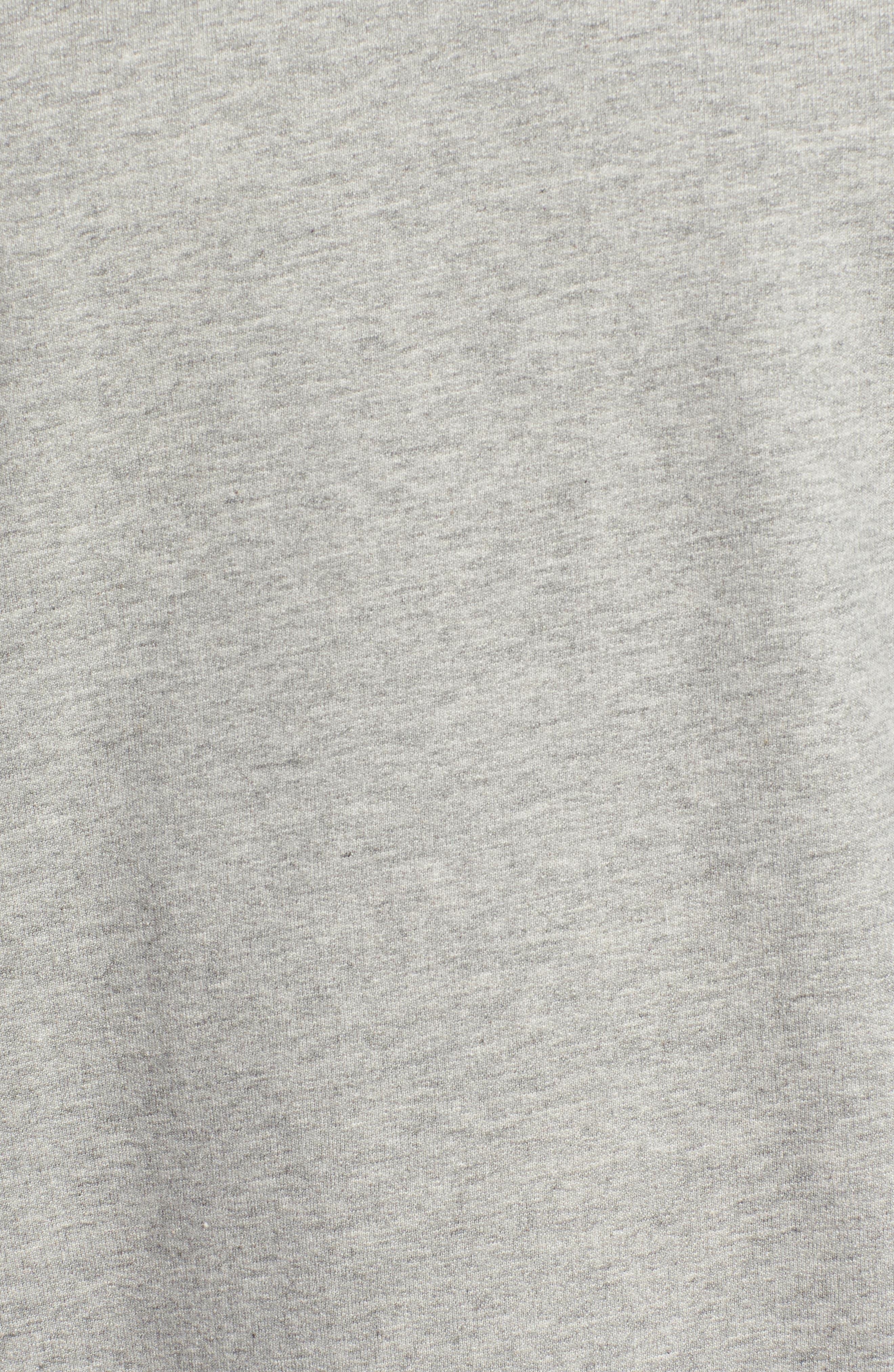 Camo Cuff Sweatshirt,                             Alternate thumbnail 5, color,                             RAIN HEATHER