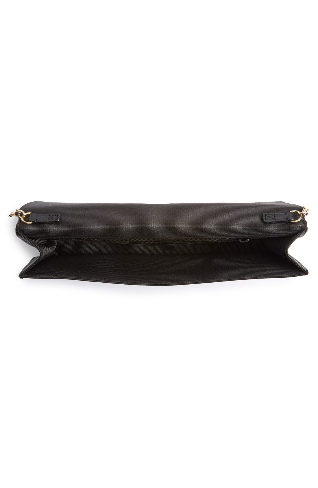 Leather Clutch,                             Alternate thumbnail 2, color,                             001