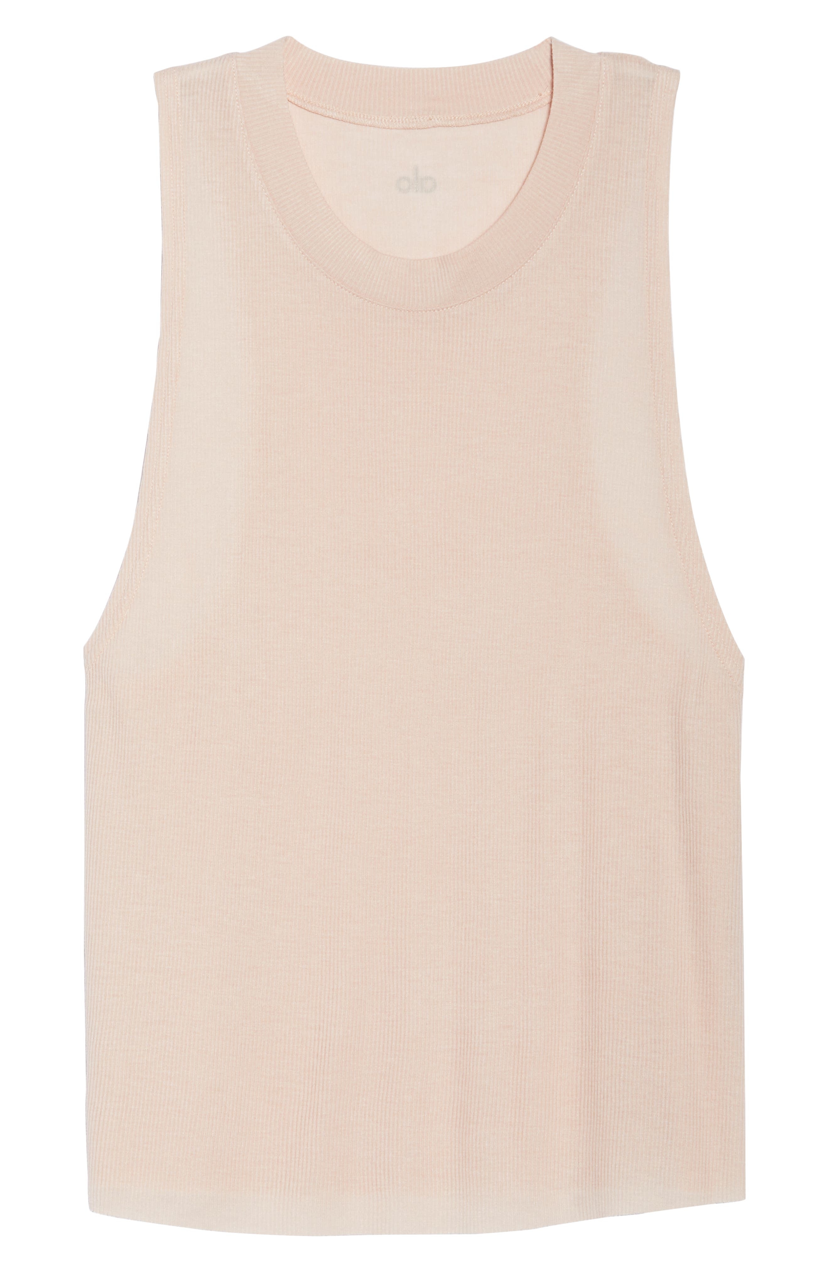 Heat Wave Ribbed Muscle Tee,                             Alternate thumbnail 7, color,                             NECTAR