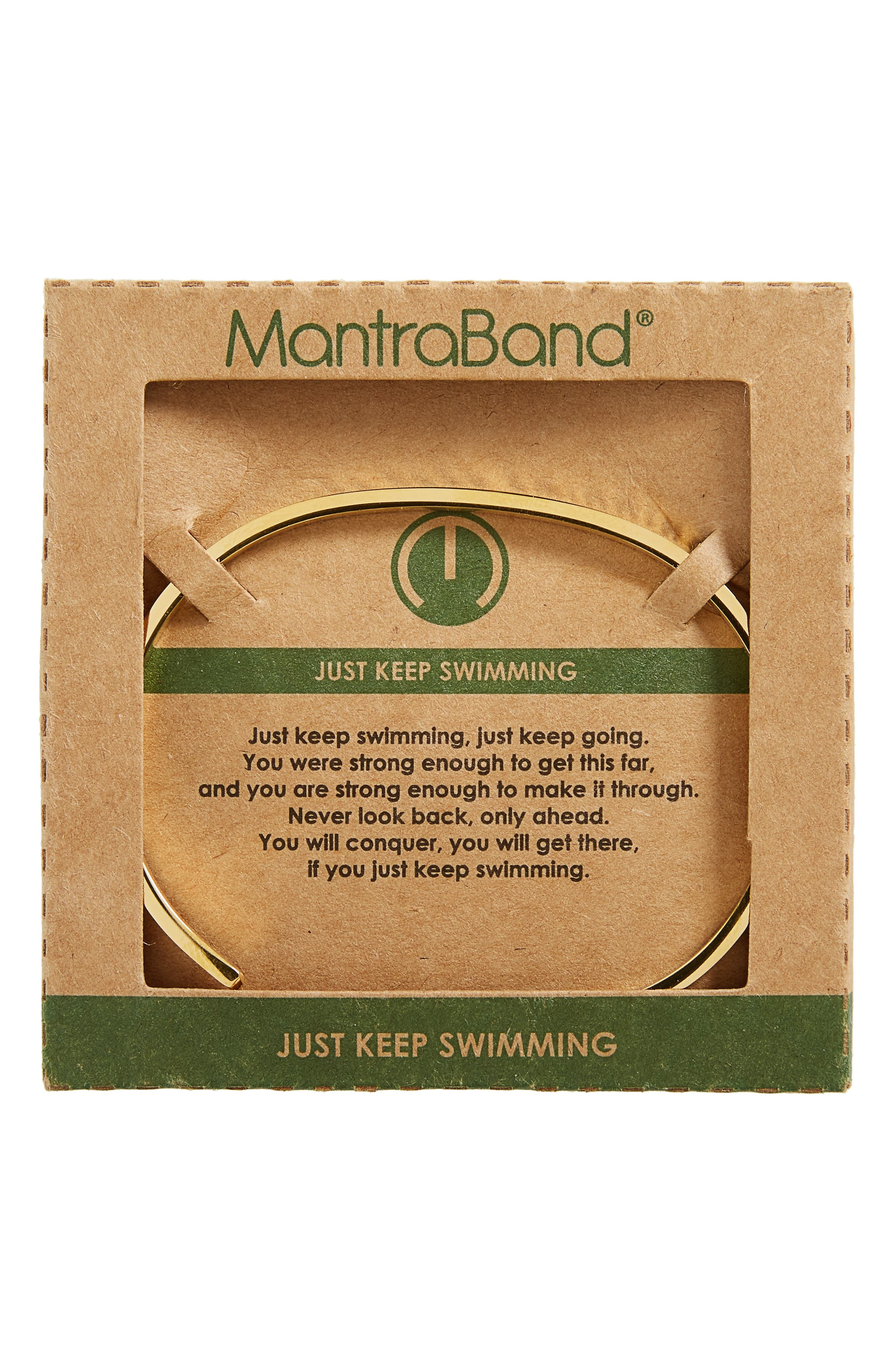 Just Keep Swimming Engraved Cuff,                             Alternate thumbnail 6, color,