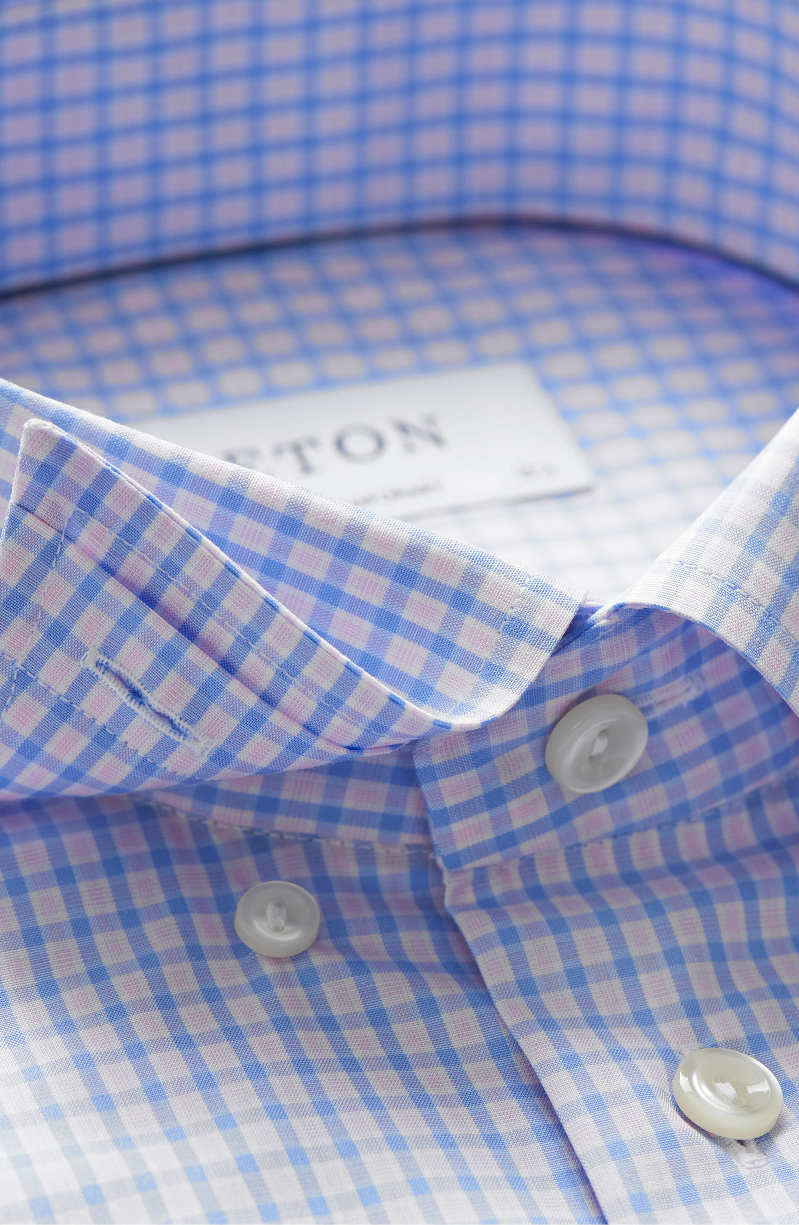 Contemporary Fit Check Dress Shirt,                             Alternate thumbnail 7, color,                             PINK