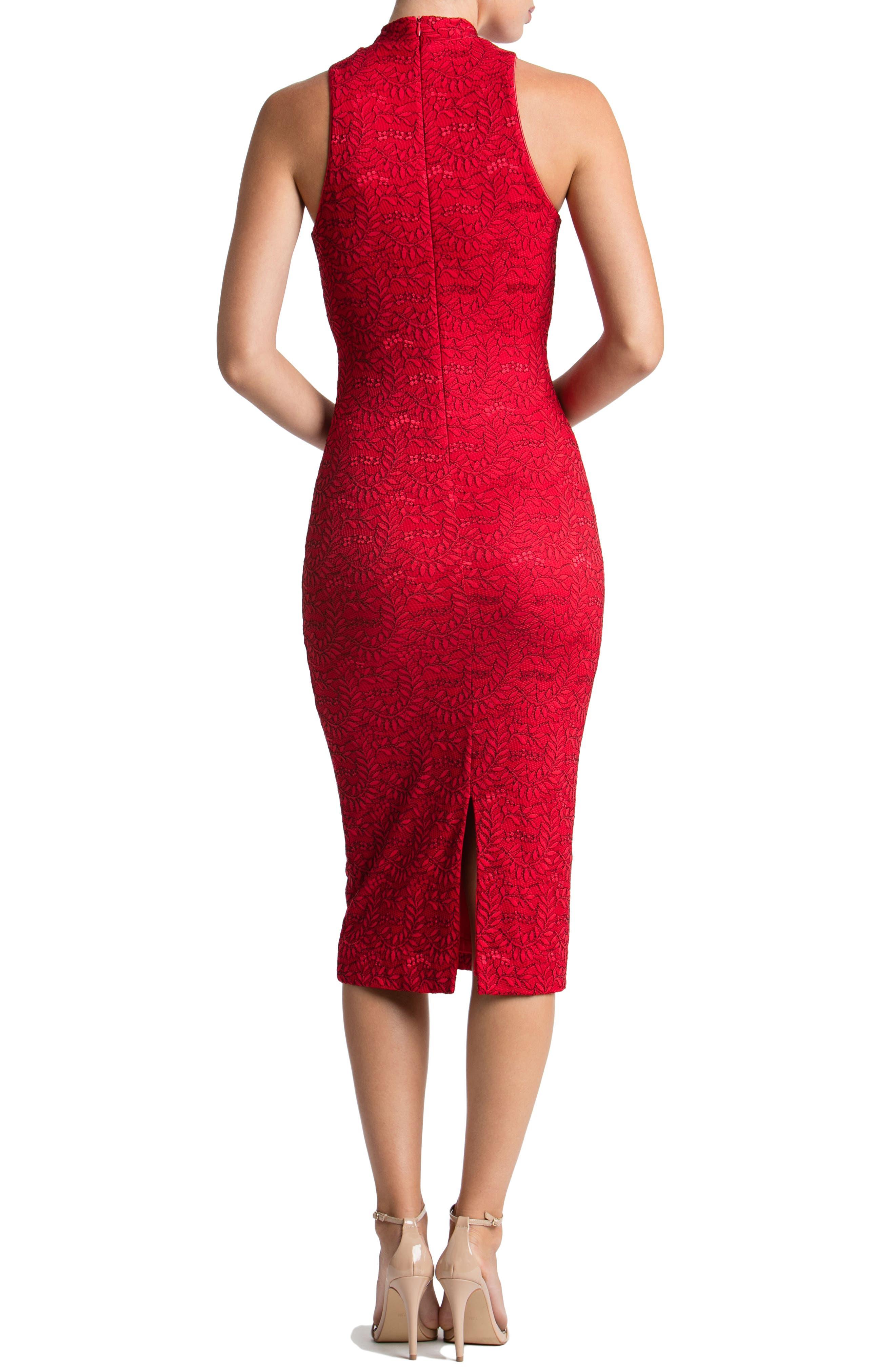 Norah Lace Midi Dress,                             Alternate thumbnail 2, color,                             622