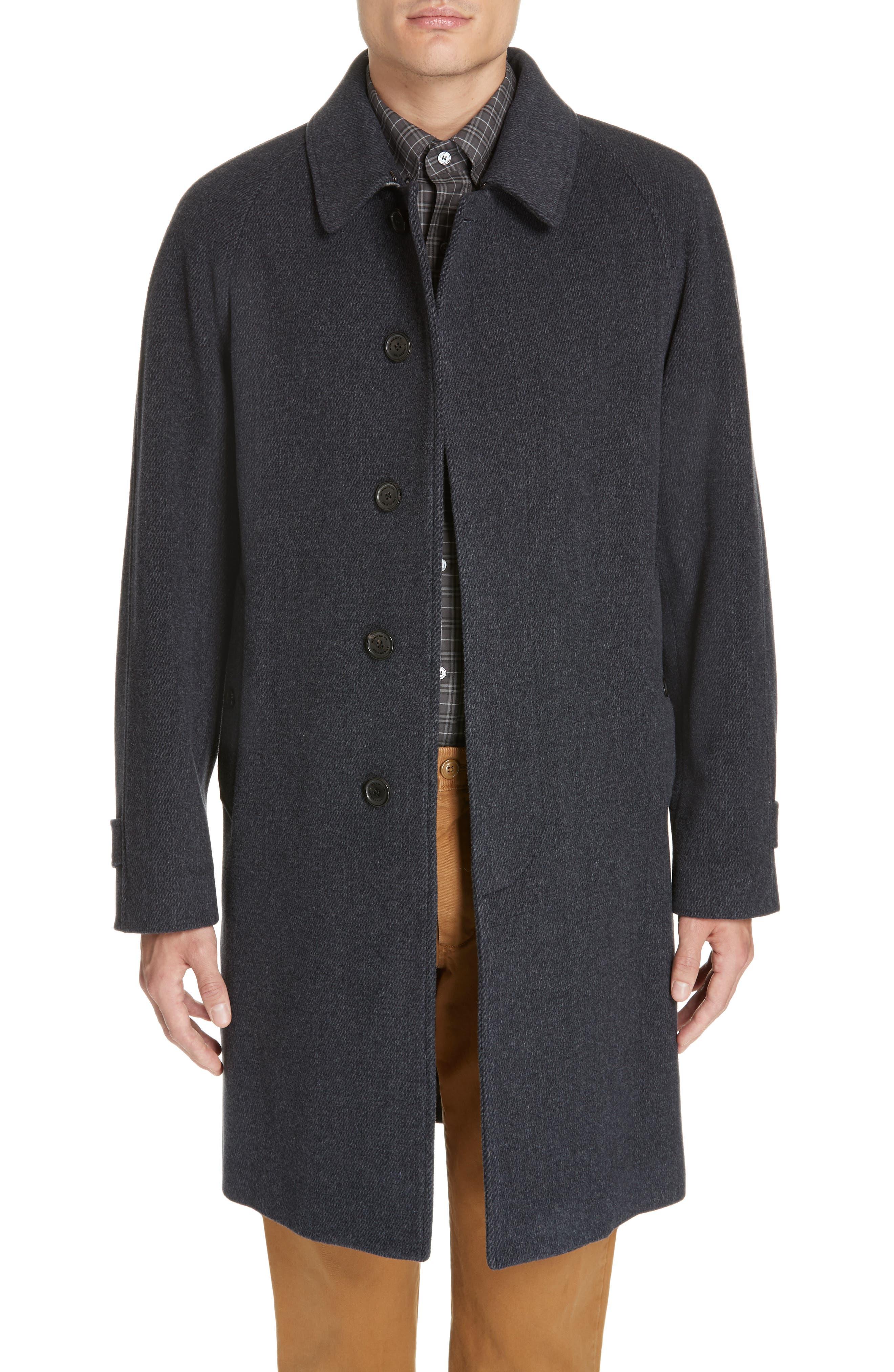 Camden Wool Blend Car Coat,                         Main,                         color, CHARCOAL