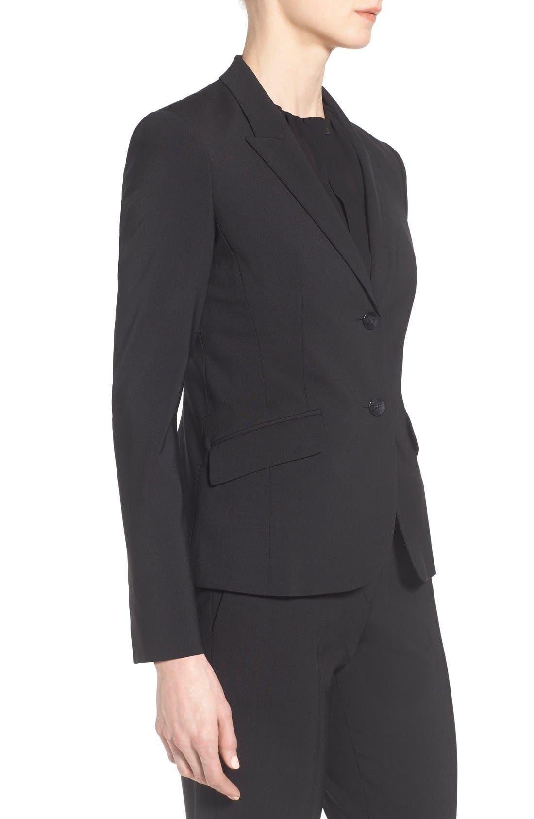 Julea Tropical Stretch Wool Jacket,                             Alternate thumbnail 8, color,                             BLACK
