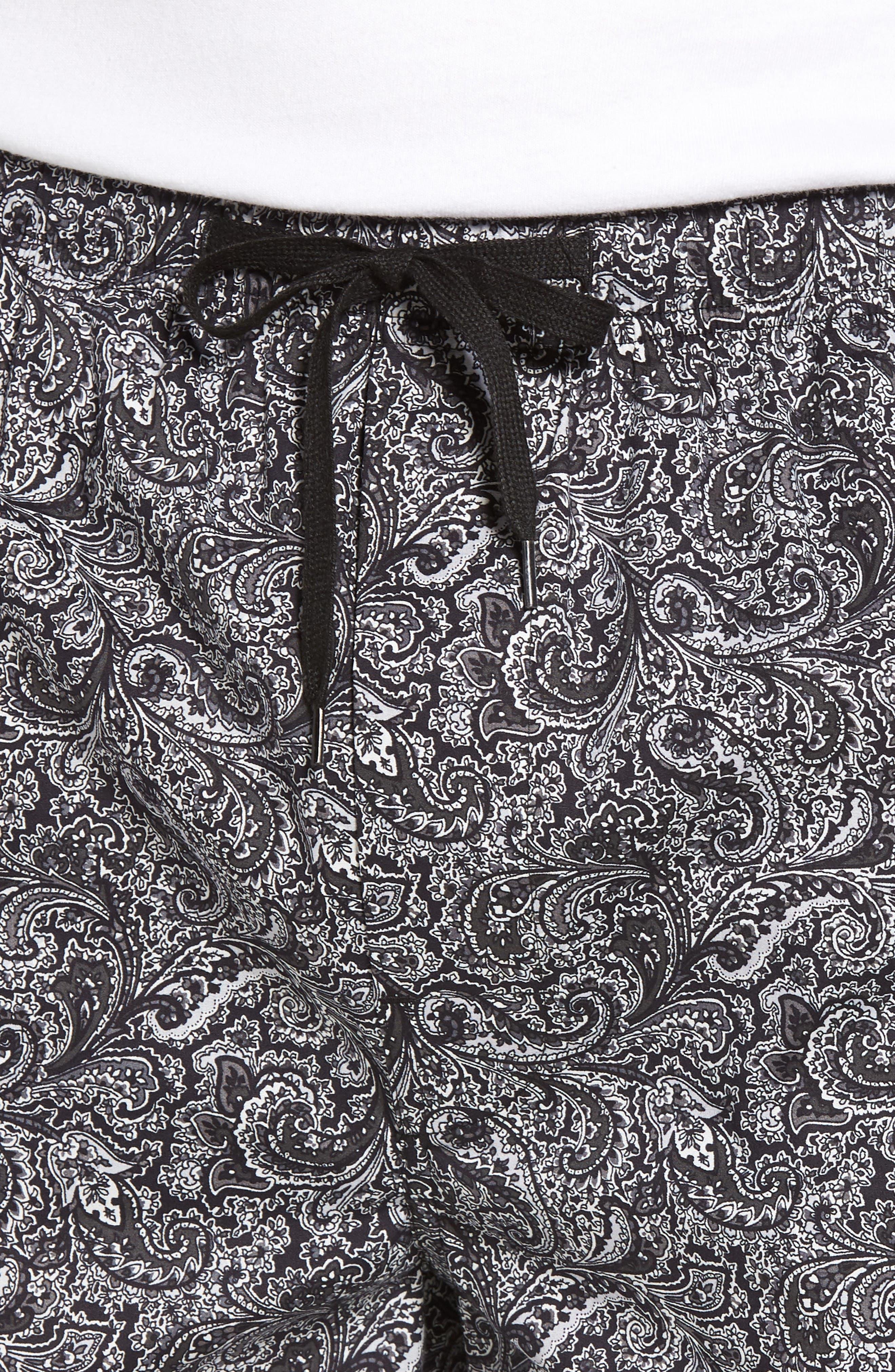Starling Lounge Pants,                             Alternate thumbnail 4, color,                             BLACK PAISLEY