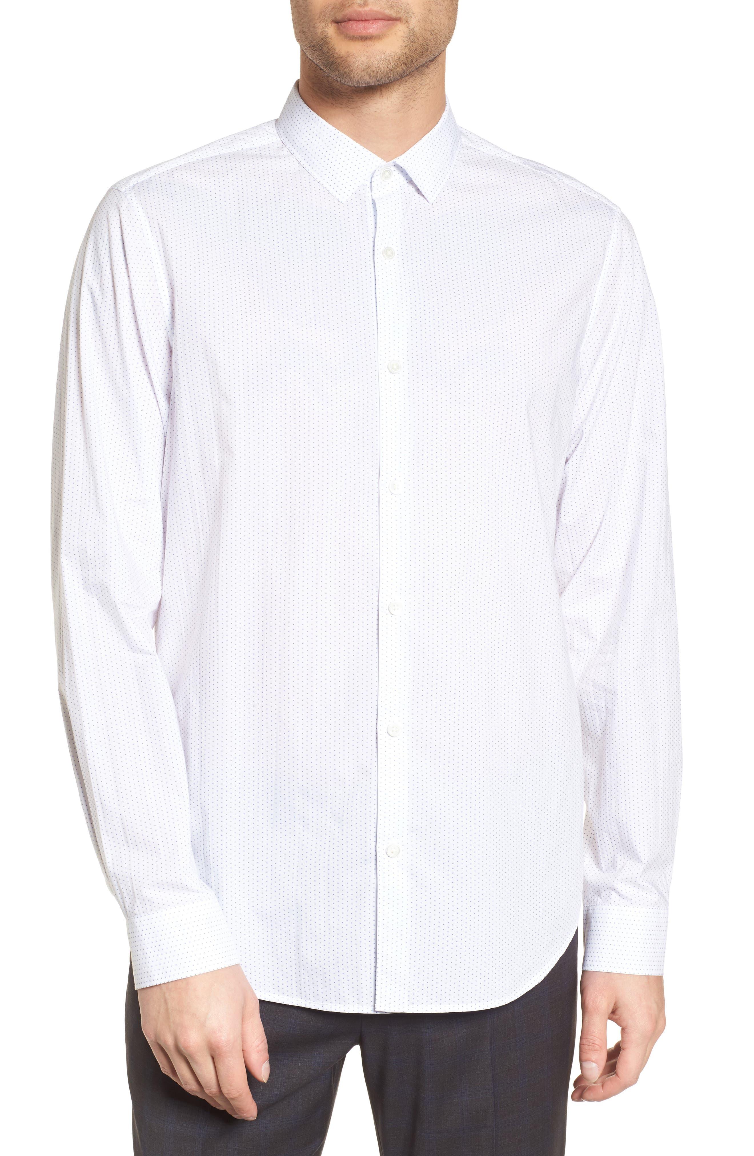Murray Slim Fit Sport Shirt,                         Main,                         color, 100