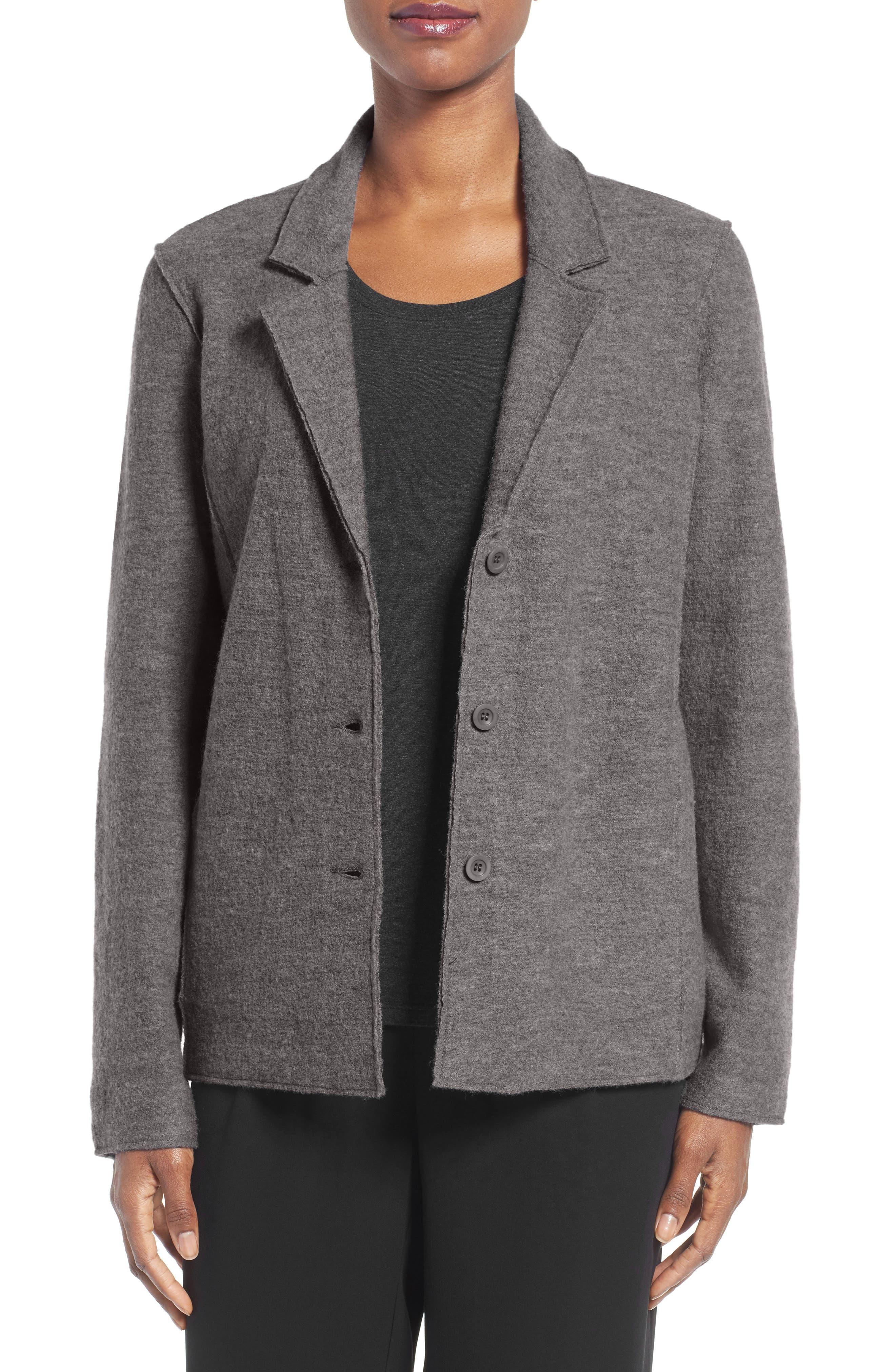 Notch Collar Merino Wool Jacket,                         Main,                         color, 030