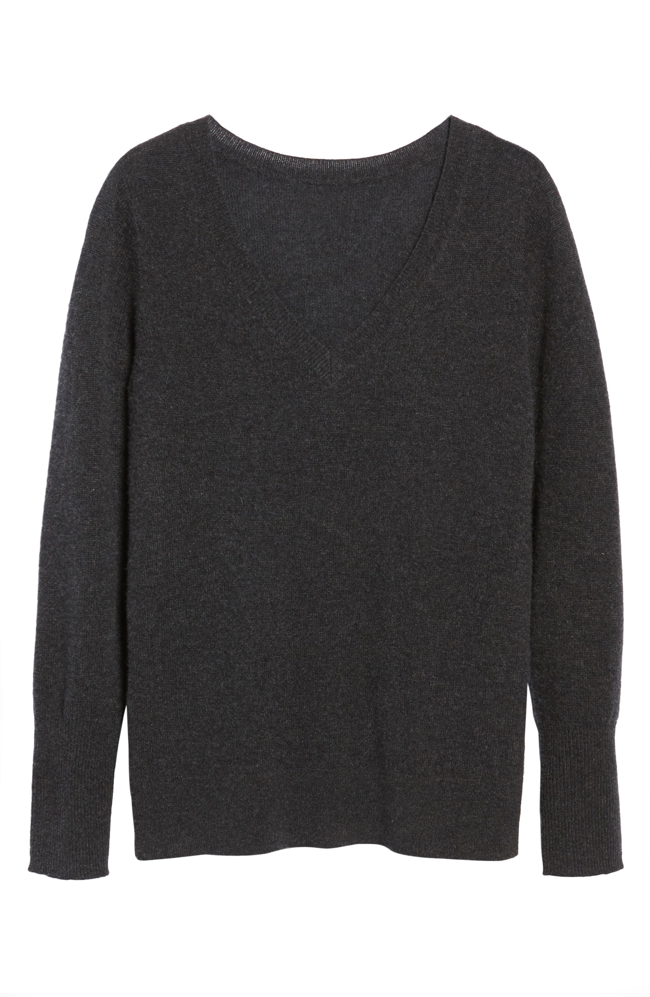 V-Neck Cashmere Sweater,                             Alternate thumbnail 96, color,