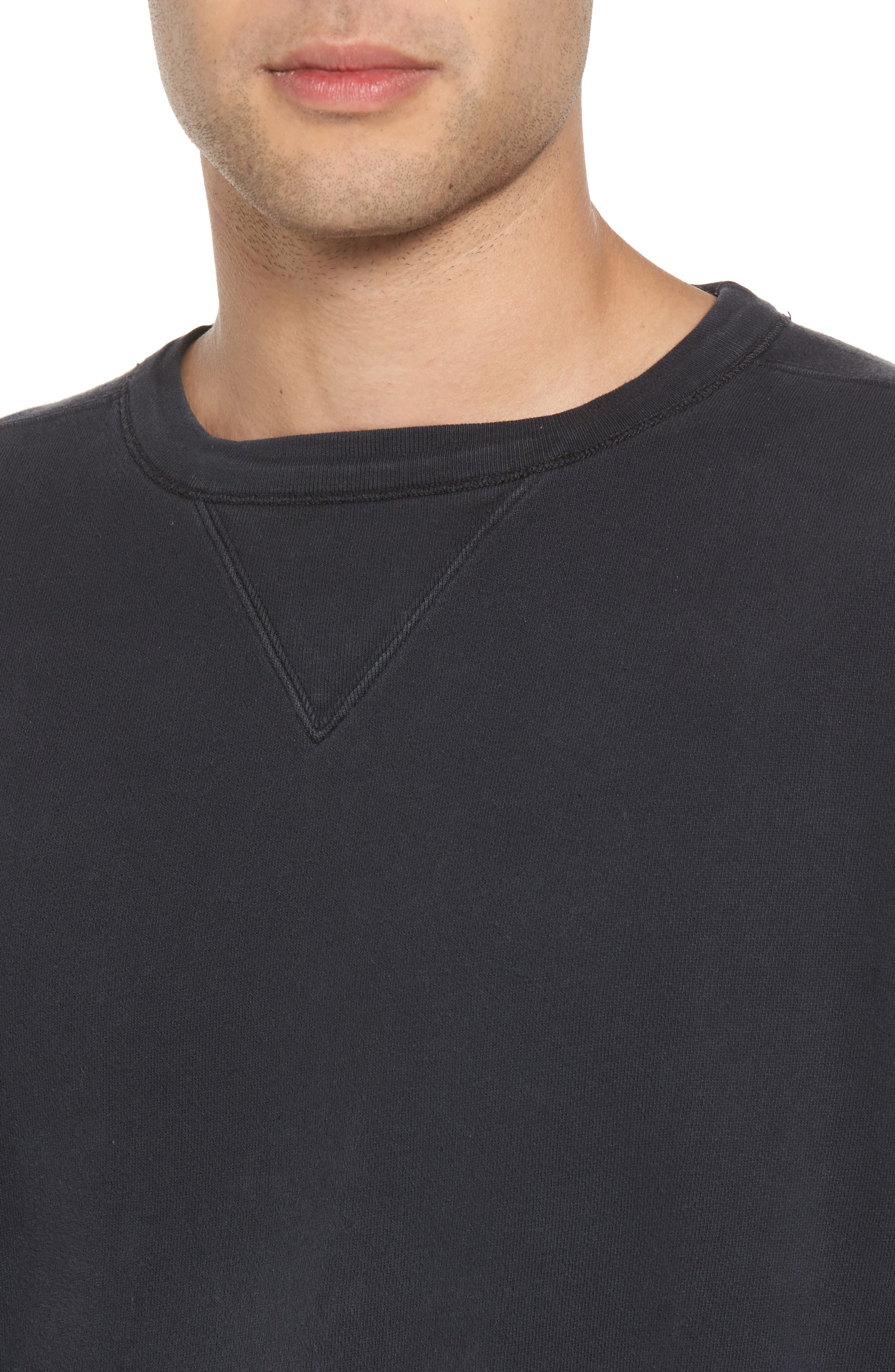 Bay Meadows Sweatshirt,                             Alternate thumbnail 4, color,                             BLACK