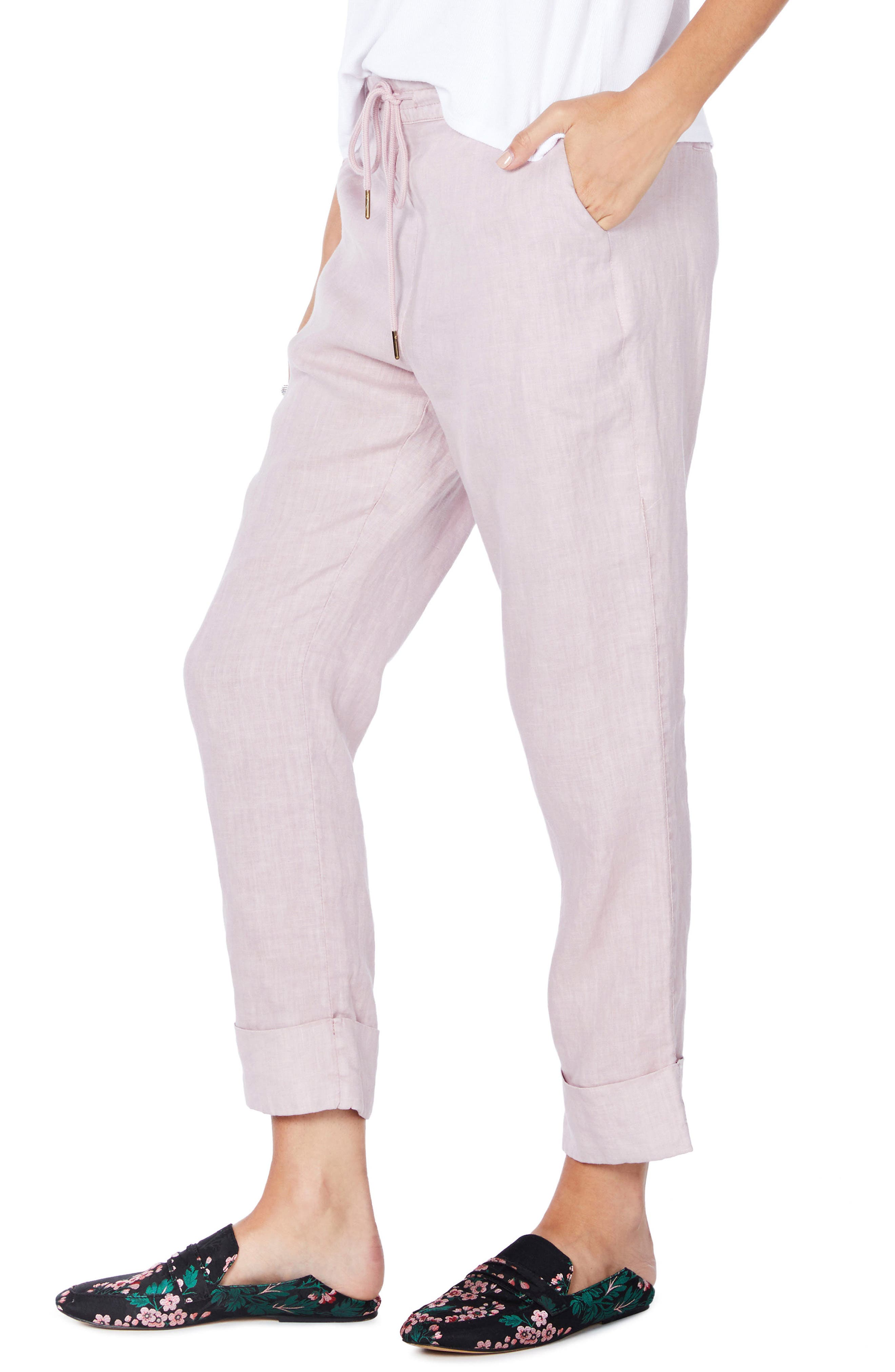 Cuffed Linen Pants,                             Alternate thumbnail 9, color,