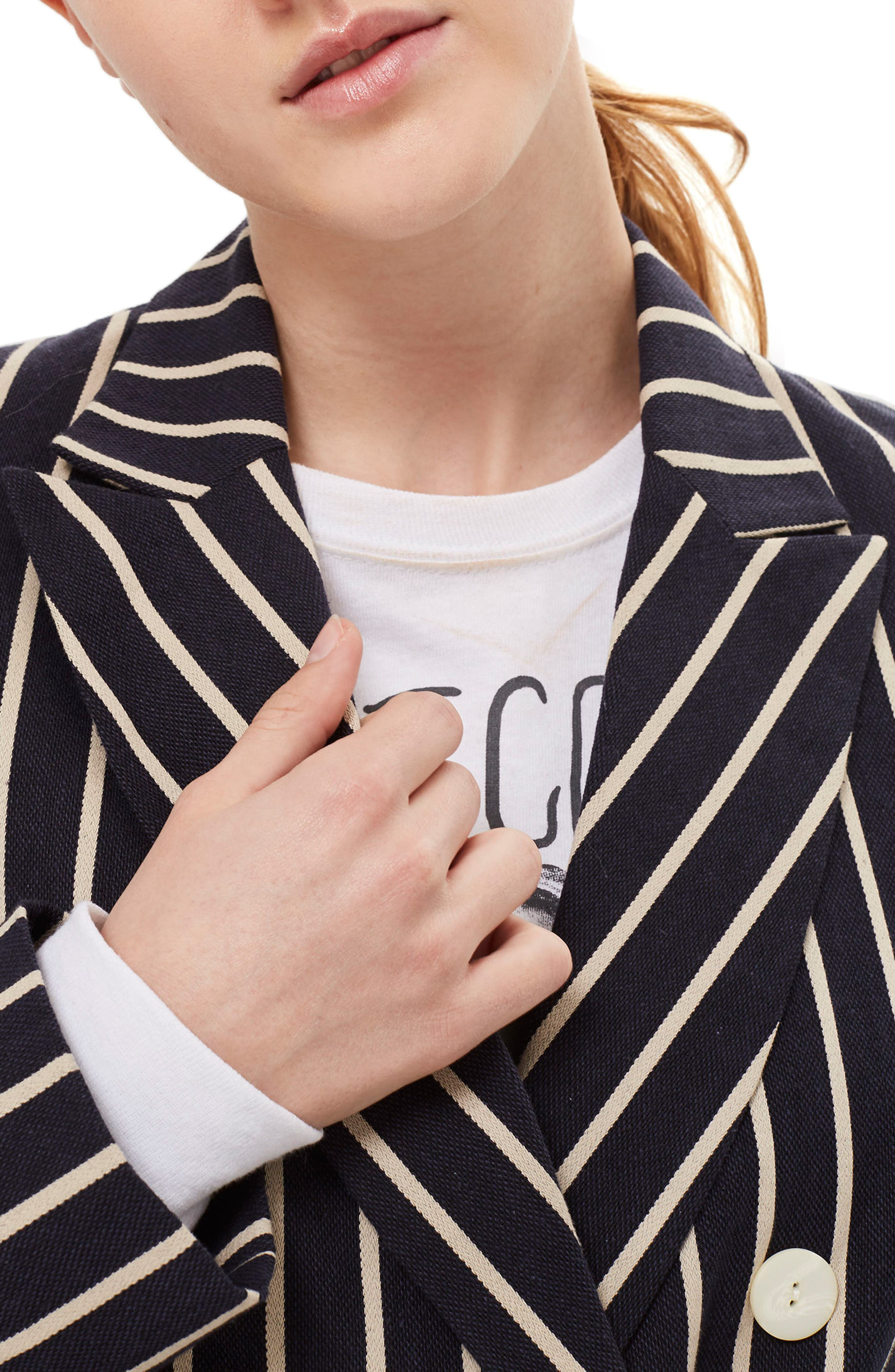 Stripe Double Breasted Jacket,                             Alternate thumbnail 3, color,