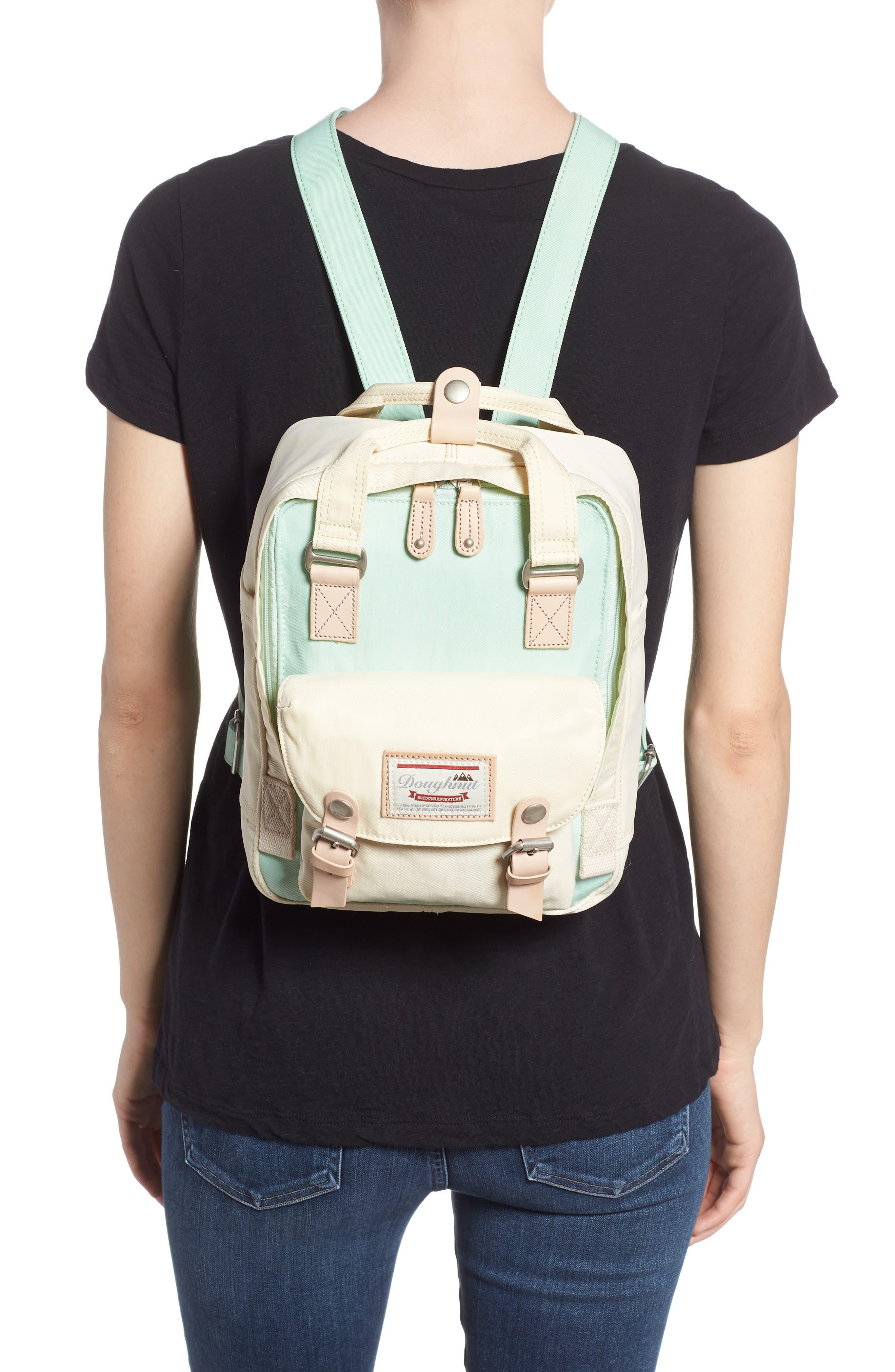 Mini Macaroon Colorblock Water Resistant Backpack,                             Alternate thumbnail 2, color,                             SODA/ CREAM