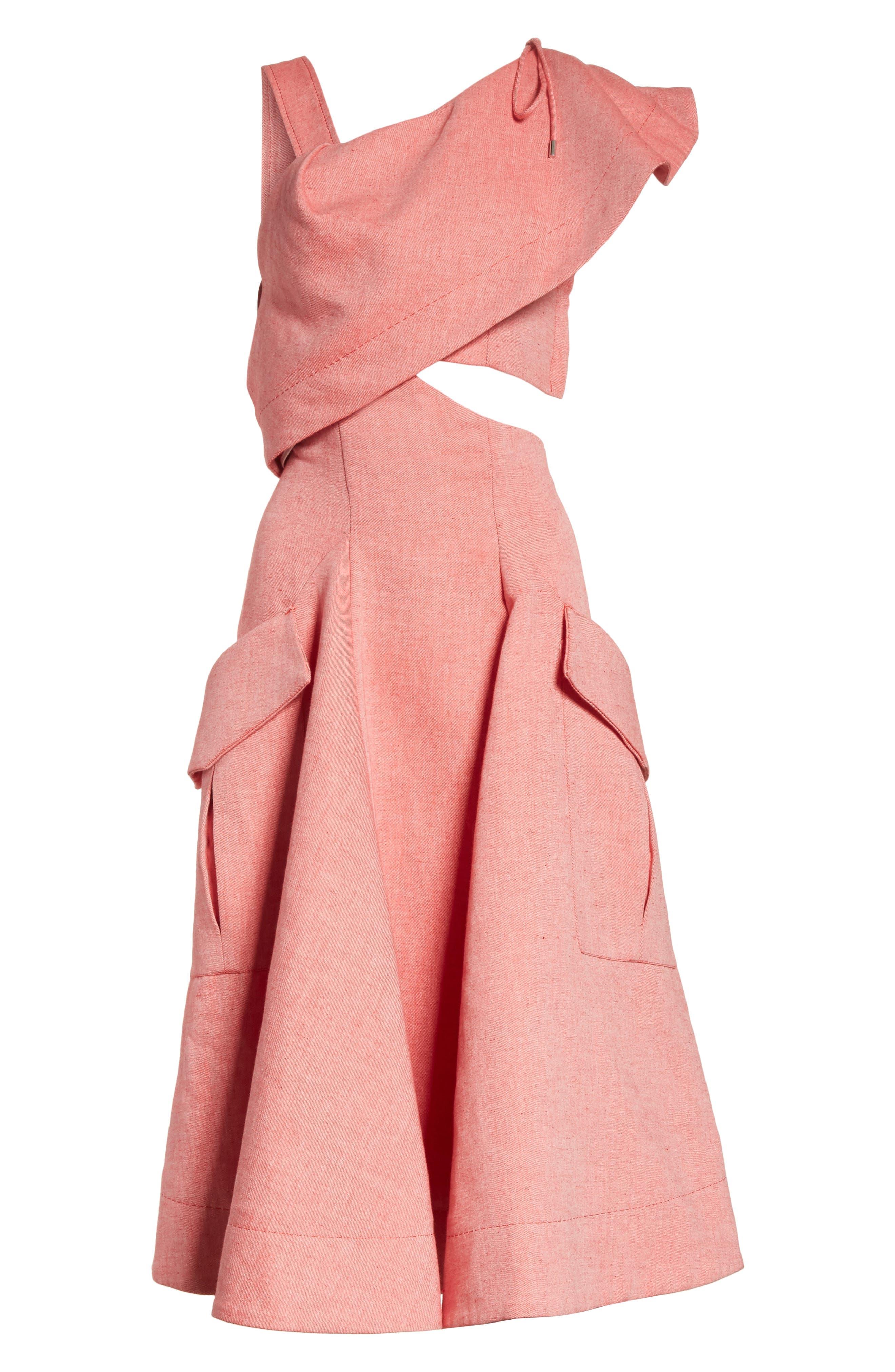 Robe Genou Dress,                             Alternate thumbnail 6, color,                             650