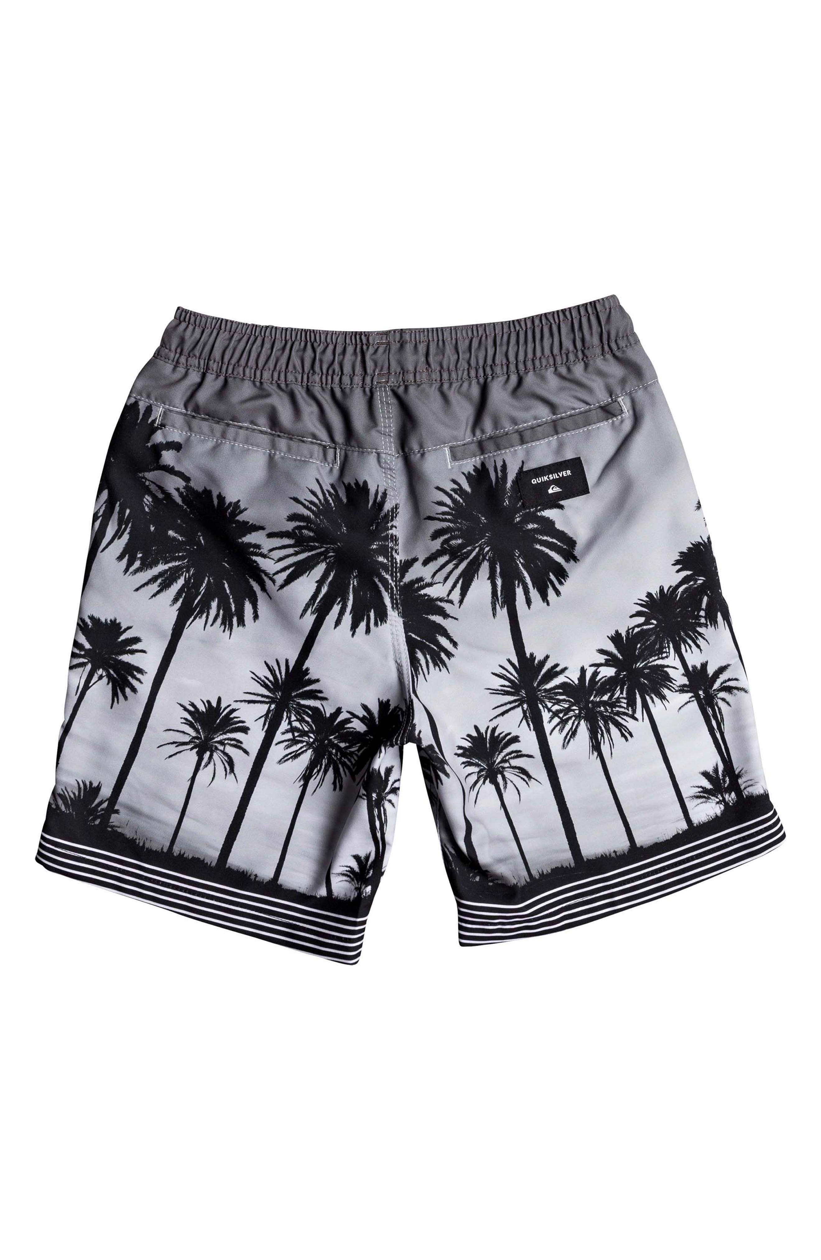 Sunset Vibes Volley Shorts,                             Alternate thumbnail 2, color,                             BLACK