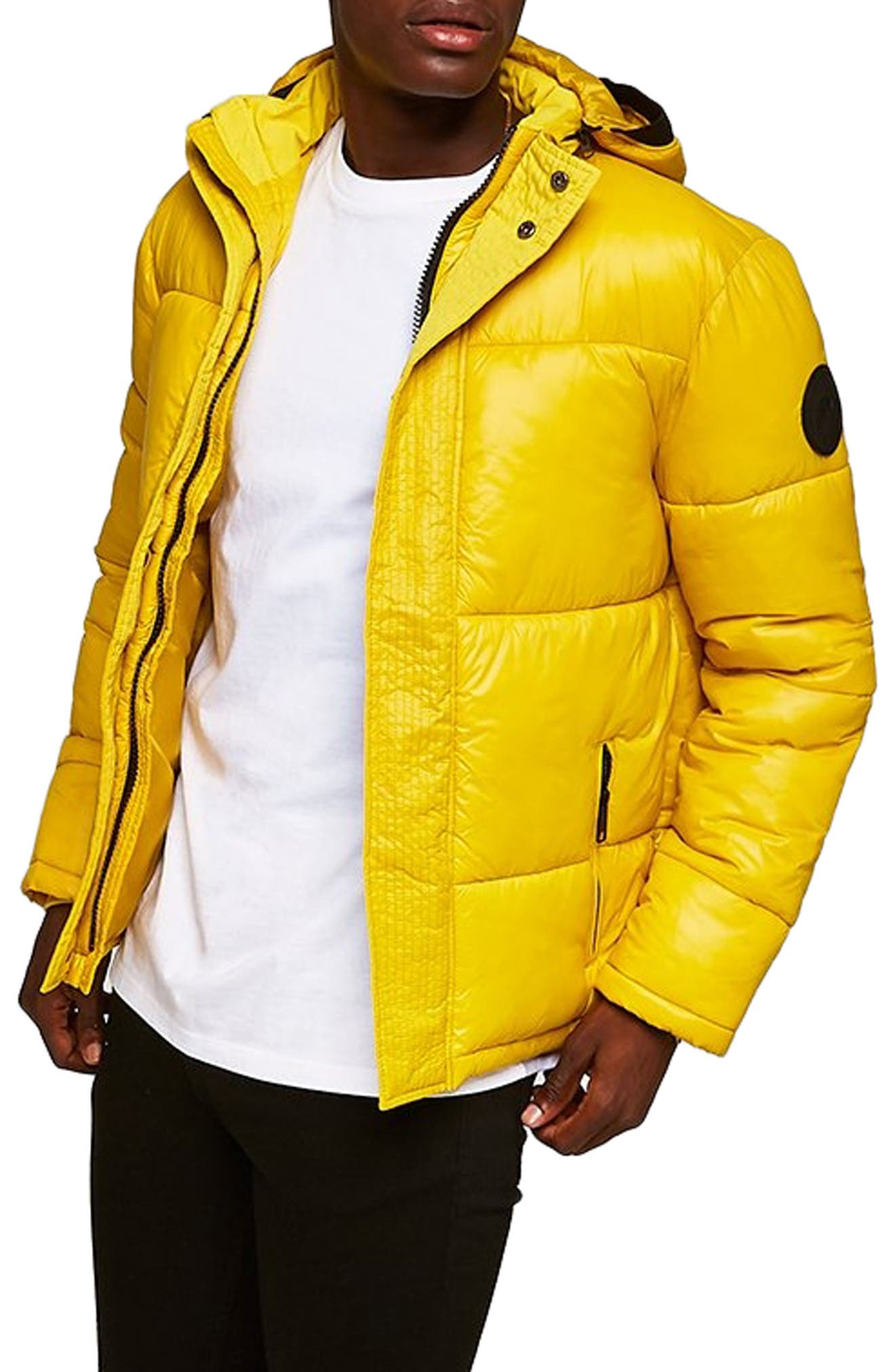 Capi Classic Fit Puffer Jacket,                             Main thumbnail 1, color,                             YELLOW