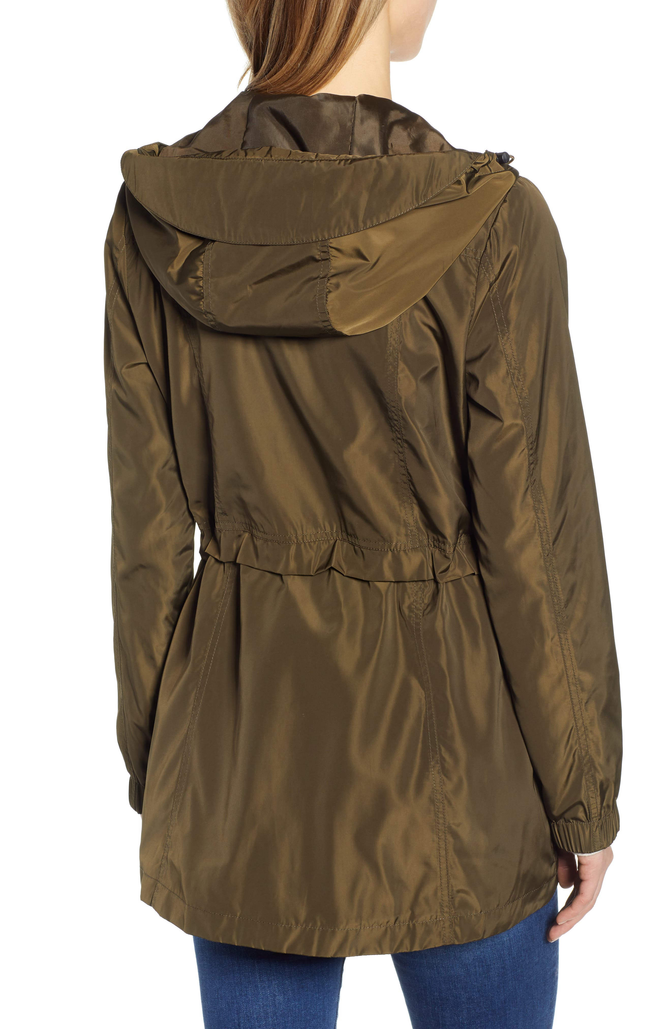 Hooded Water Resistant Parka,                             Alternate thumbnail 2, color,                             LODEN