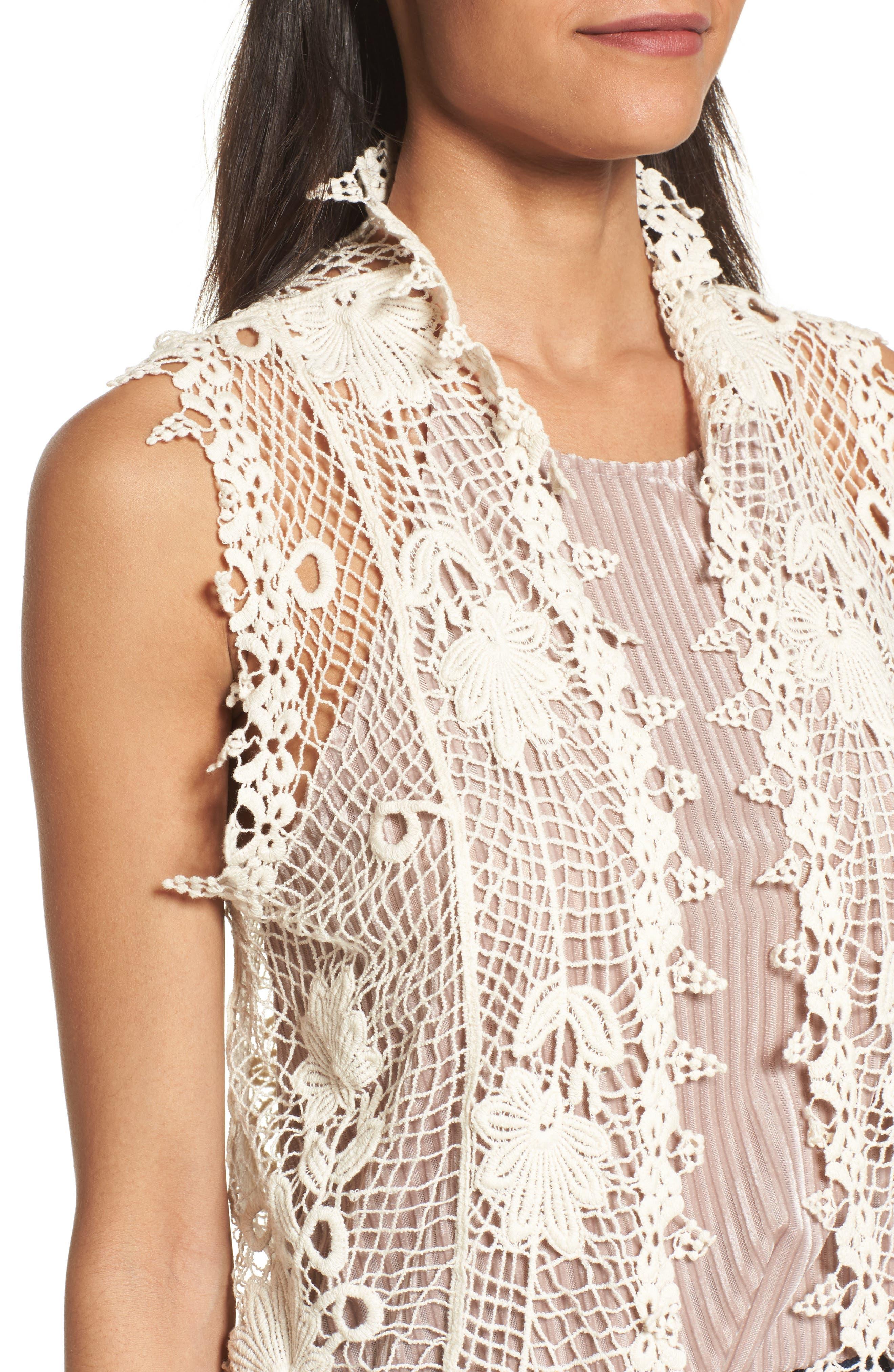 Crochet Cotton Vest,                             Alternate thumbnail 4, color,                             900