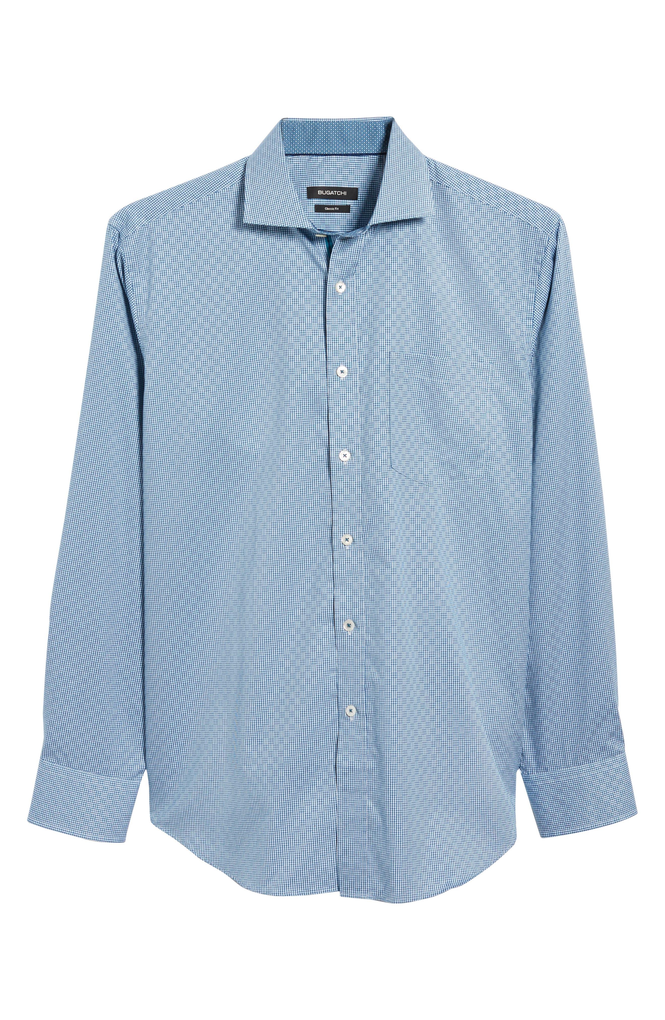 Classic Fit Check Sport Shirt,                             Alternate thumbnail 6, color,                             445