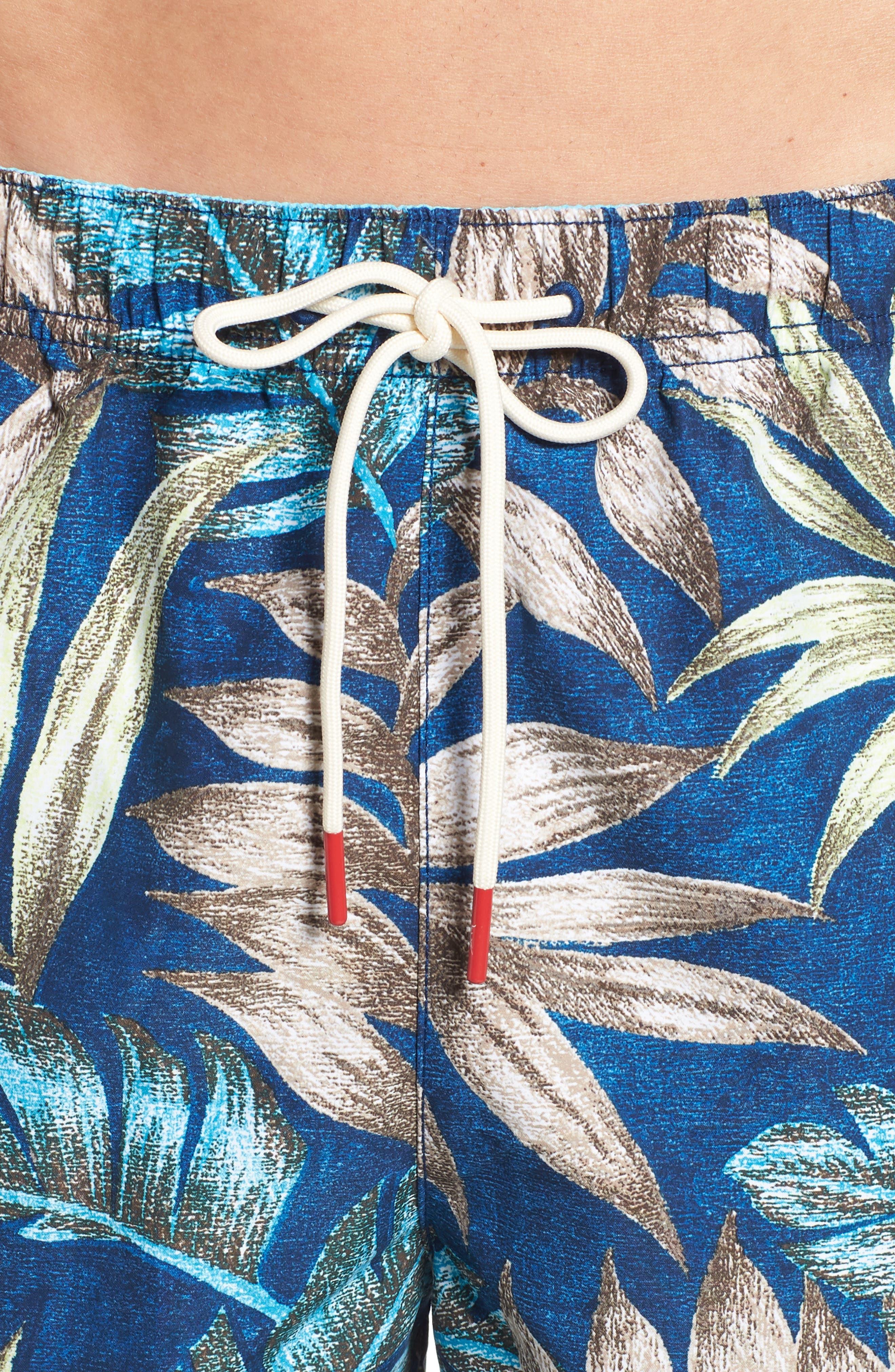 Naples Parque Palms Swim Trunks,                             Alternate thumbnail 4, color,                             400