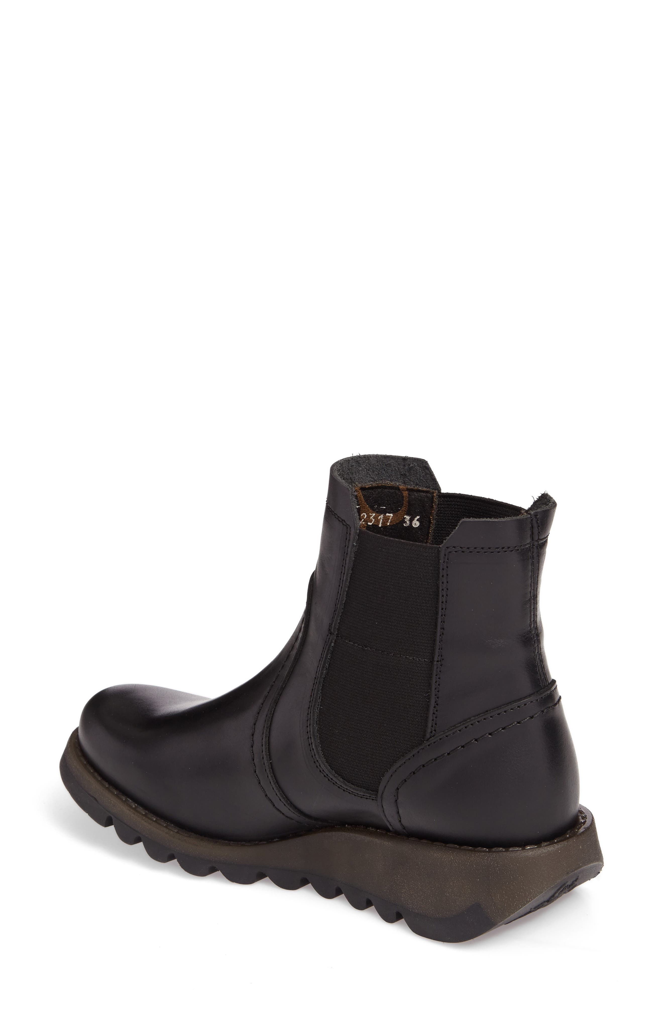 Scon Waterproof Gore-Tex<sup>®</sup> Chelsea Boot,                             Alternate thumbnail 2, color,                             BLACK LEATHER