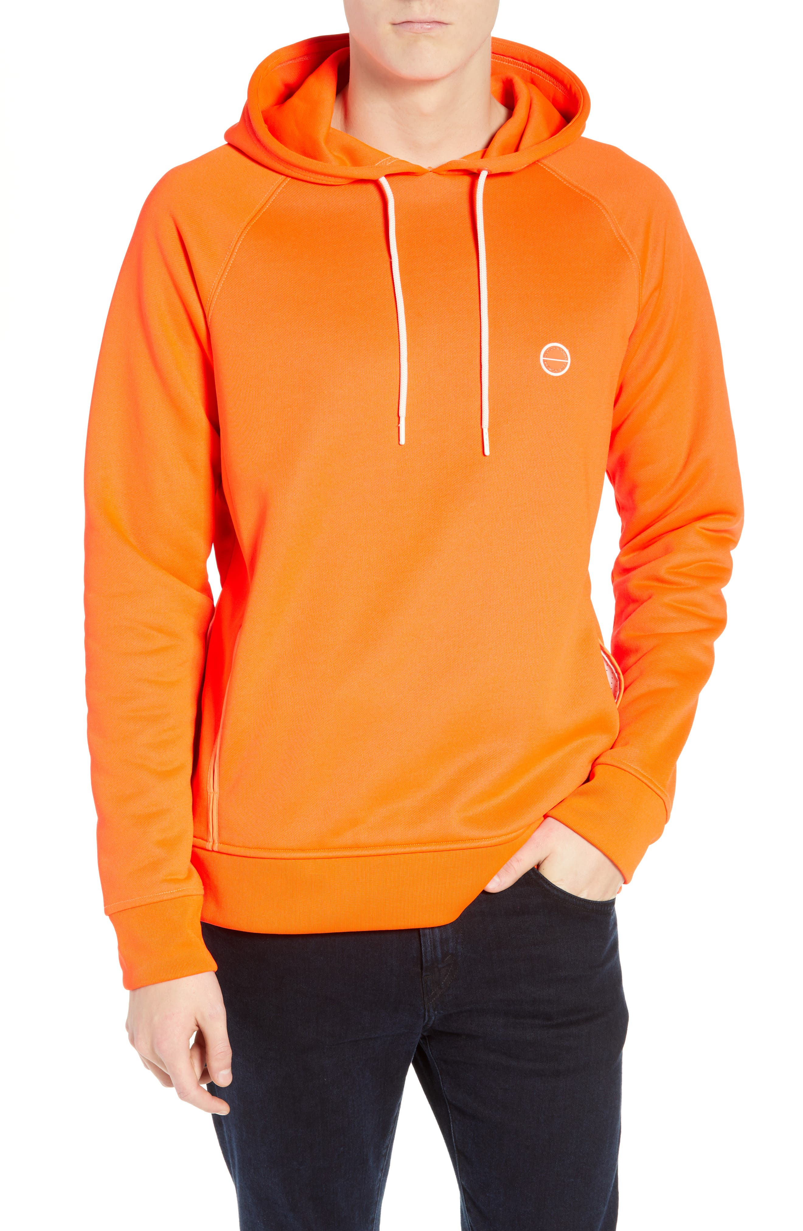SCOTCH & SODA Club Nomade Hooded Sweatshirt in Fluo Orange