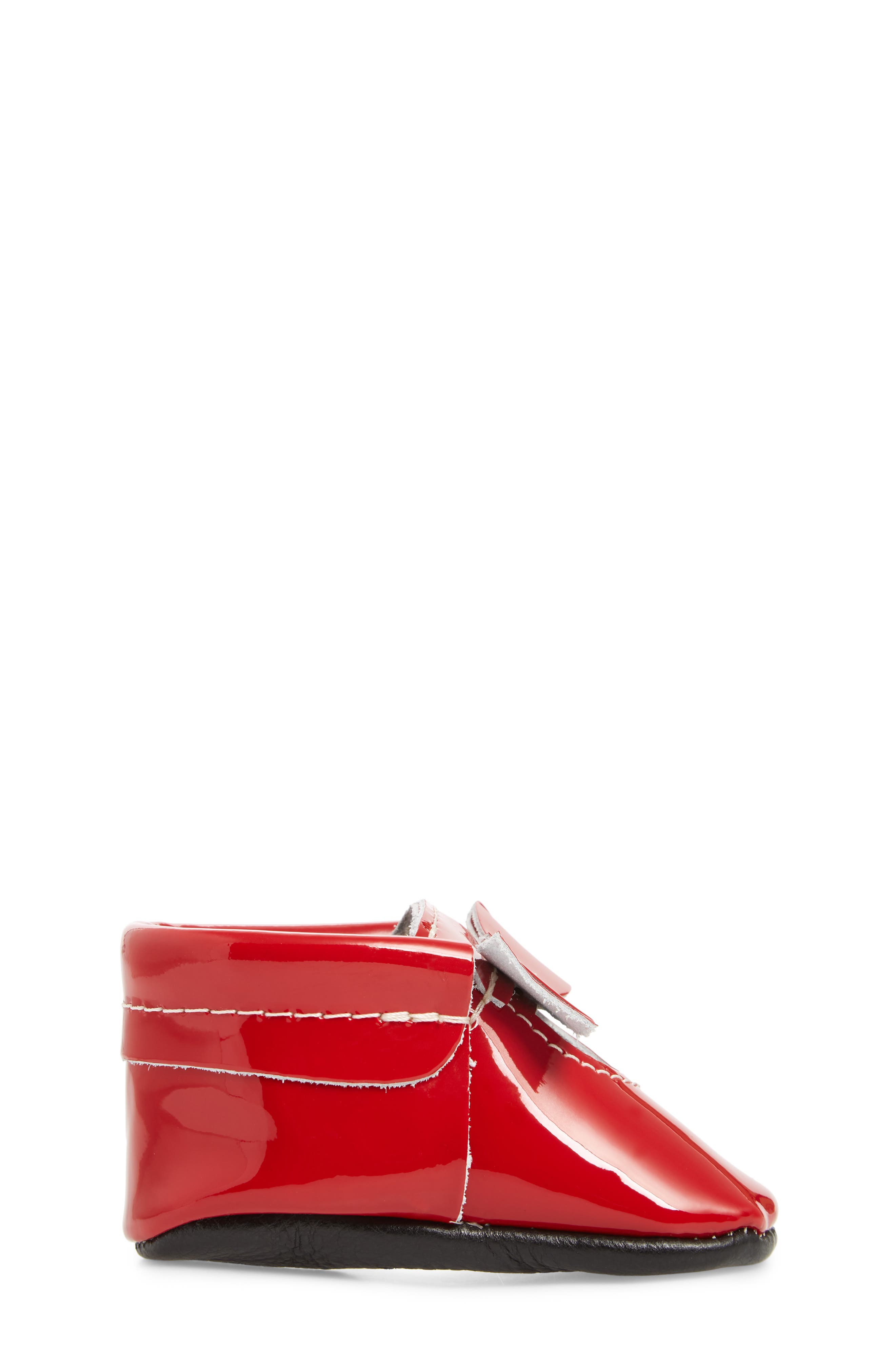 Bow Patent Mary Jane,                             Alternate thumbnail 3, color,                             RED PATENT