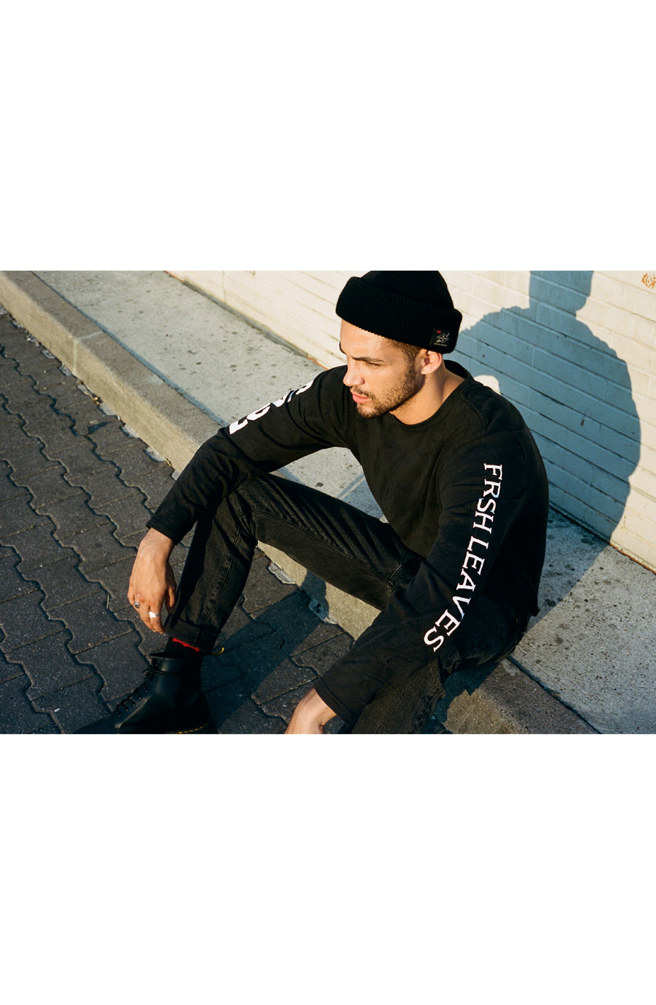 x Justin Timberlake Camo Long Sleeve T-Shirt,                             Alternate thumbnail 9, color,                             BLACK