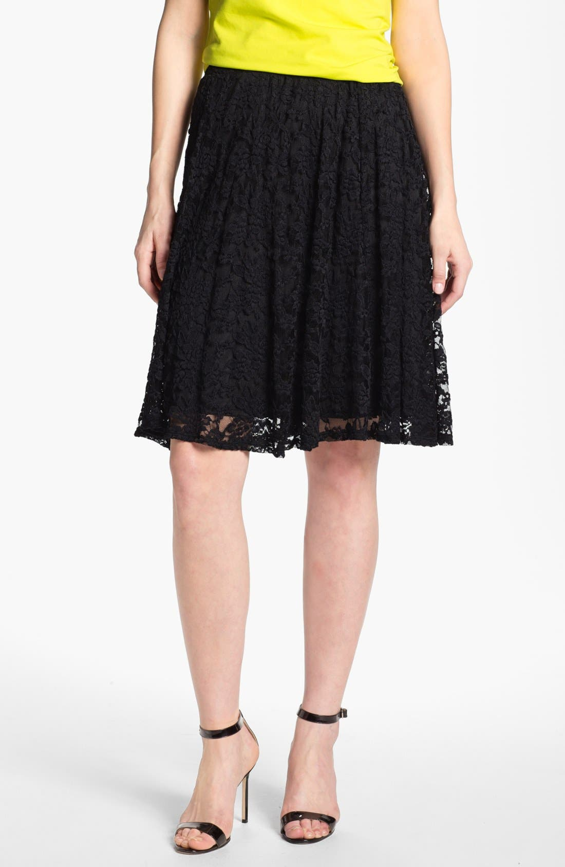 High Waist Lace Skirt,                             Main thumbnail 1, color,                             001