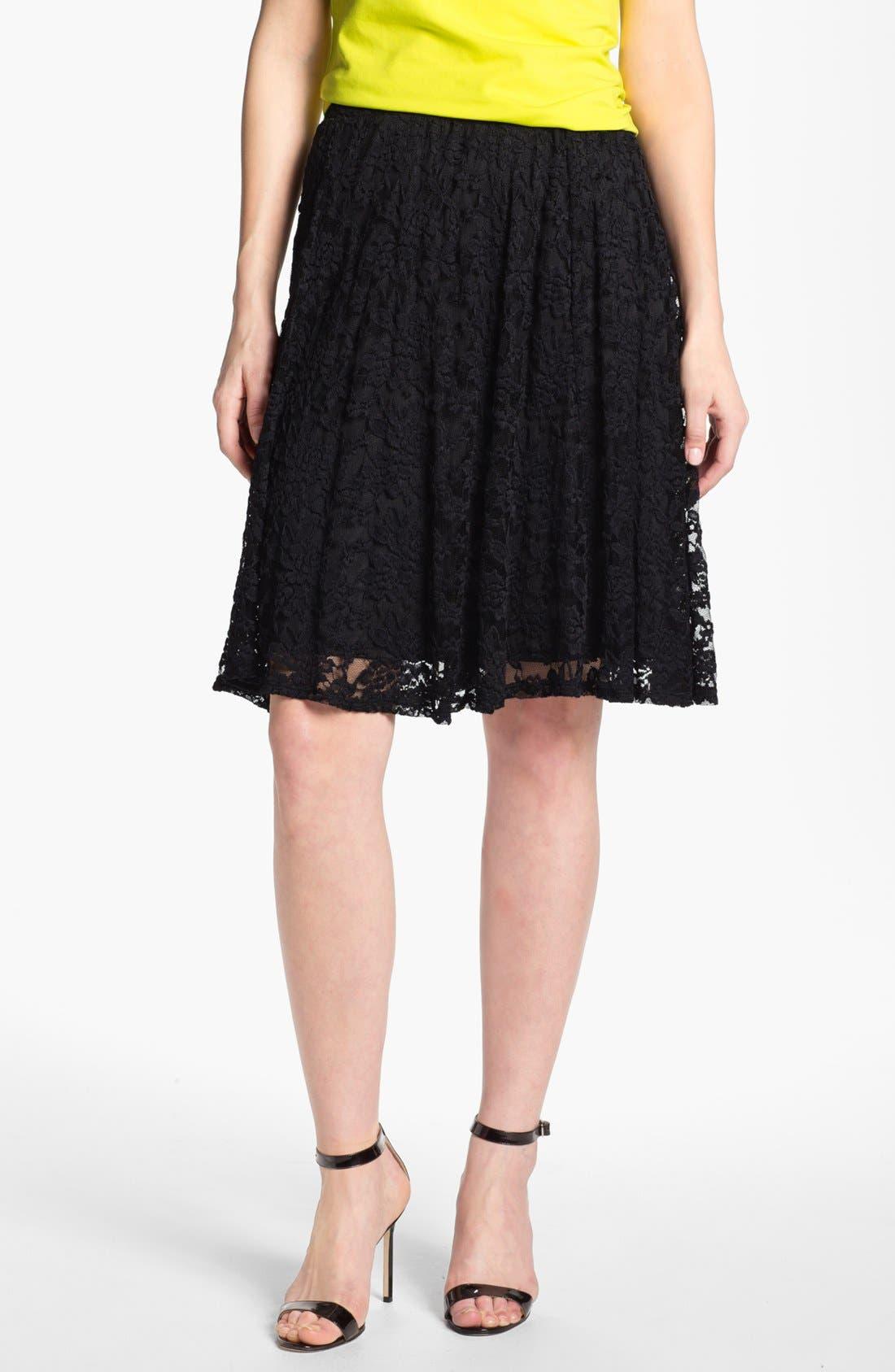 High Waist Lace Skirt,                         Main,                         color, 001