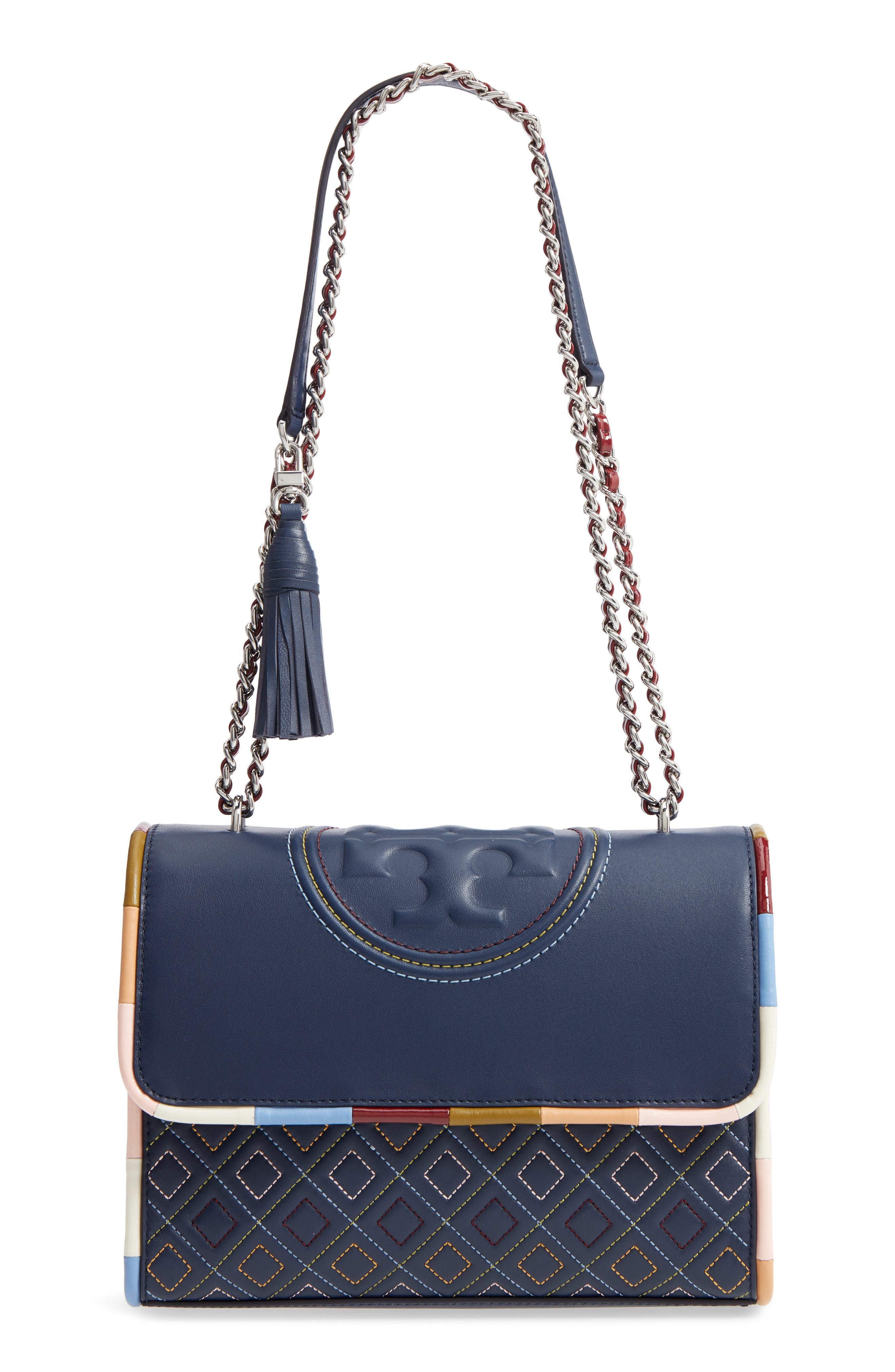 Fleming Piped Leather Convertible Shoulder Bag,                         Main,                         color, 100