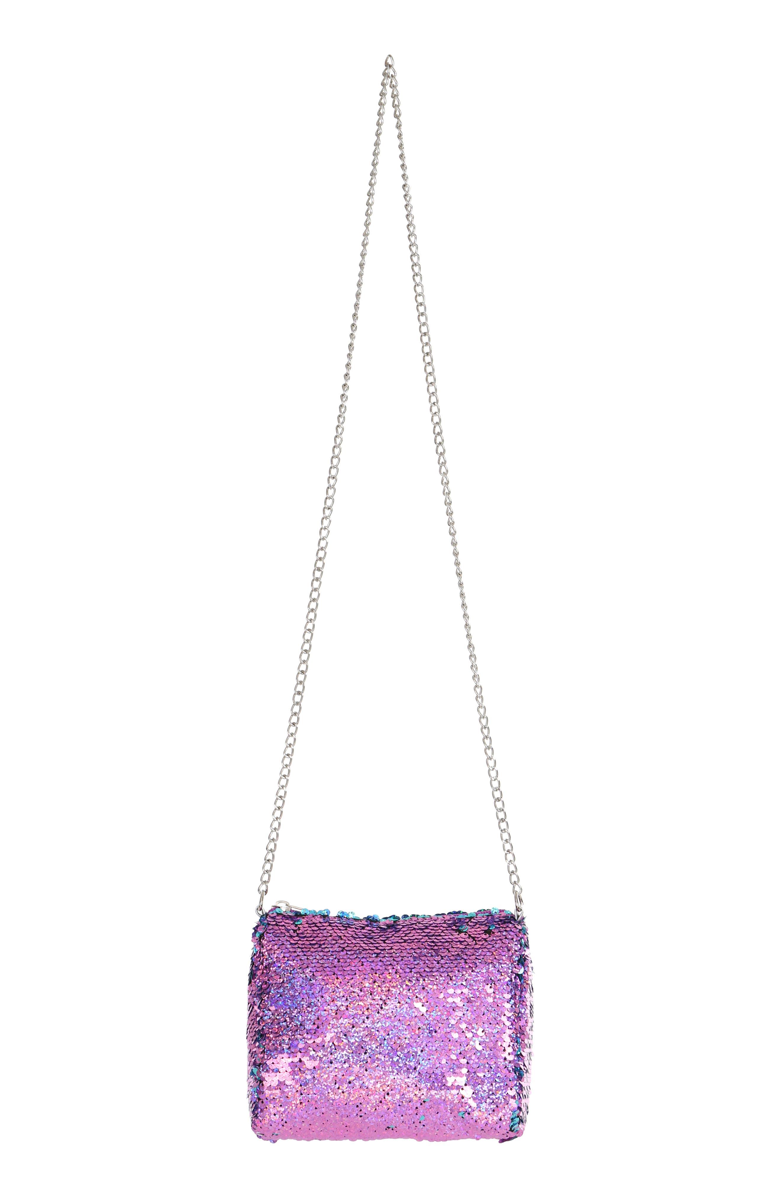 Flip Sequin Shoulder Bag,                             Alternate thumbnail 5, color,                             442