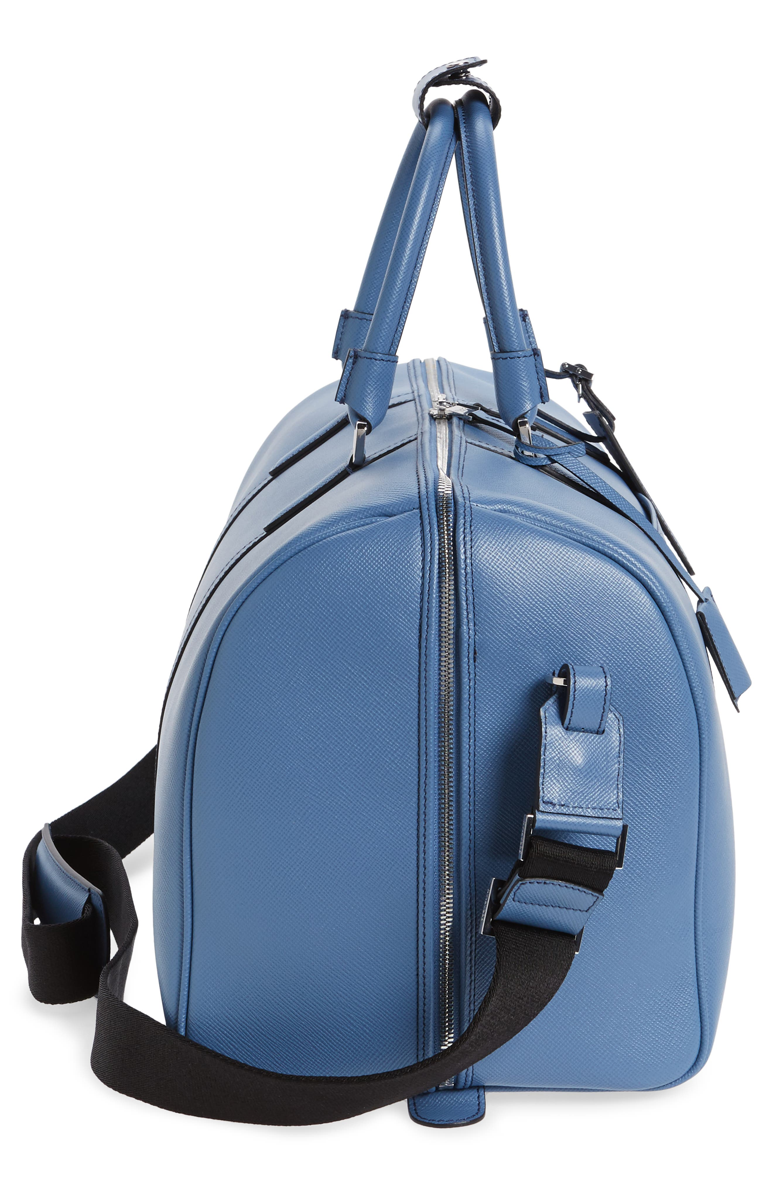 Small Evolution Leather Duffel Bag,                             Alternate thumbnail 20, color,
