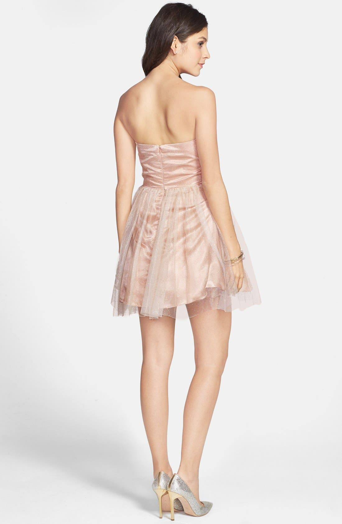 JUMP APPAREL,                             Strapless Dress,                             Alternate thumbnail 3, color,                             650