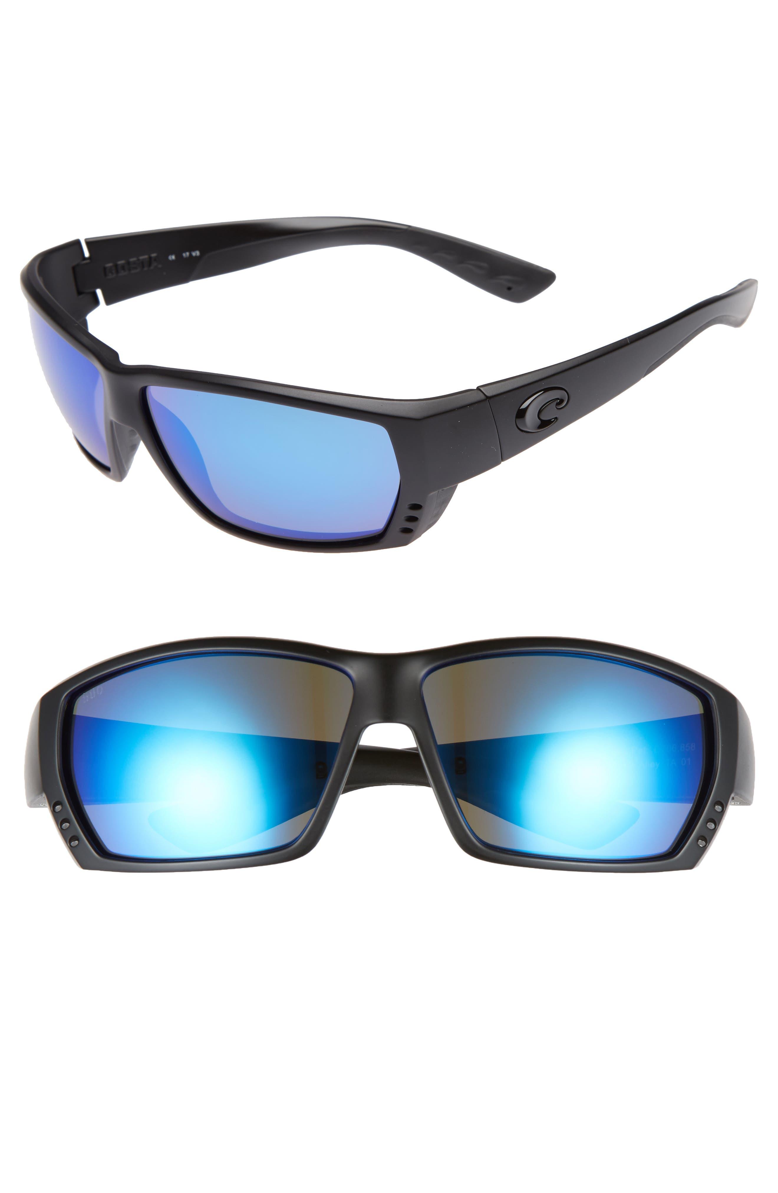 f025cfcb398 Costa Del Mar Tuna Alley 60Mm Polarized Sunglasses - Blackout  Blue Mirror