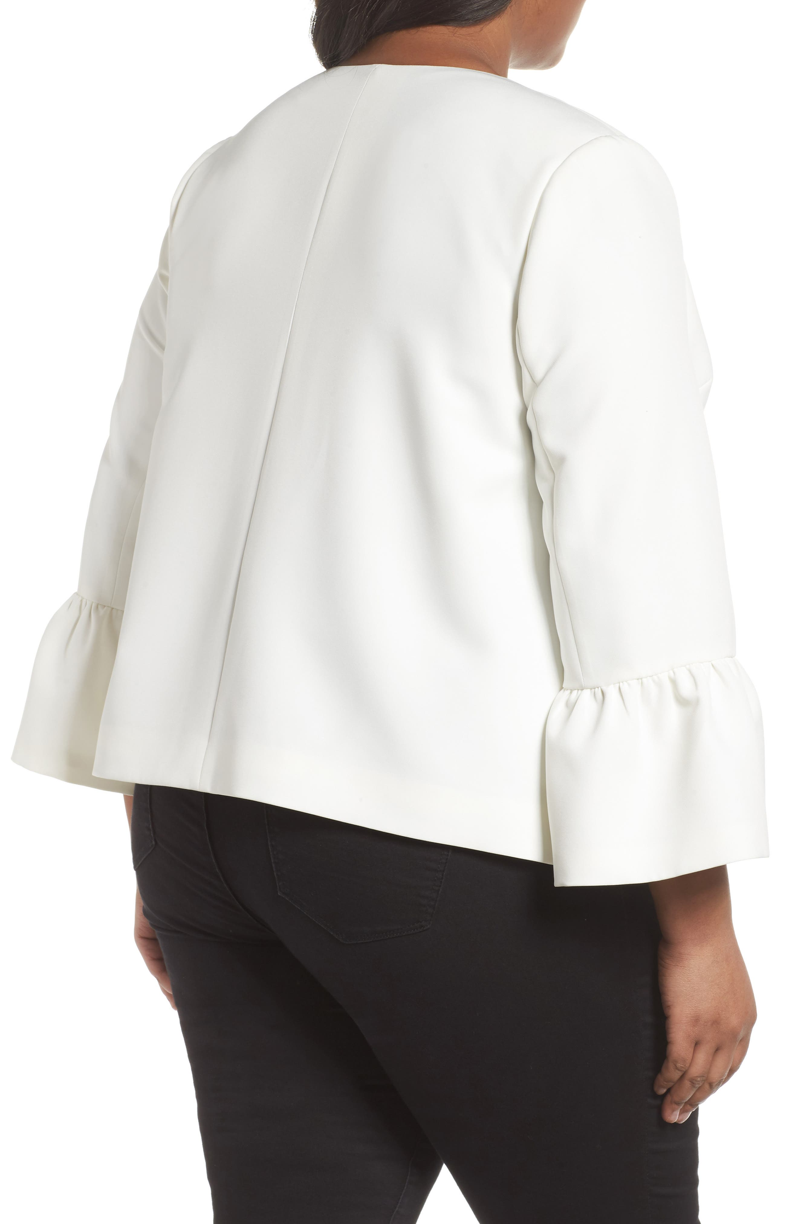 Ruffle Sleeve Jacket,                             Alternate thumbnail 2, color,                             903