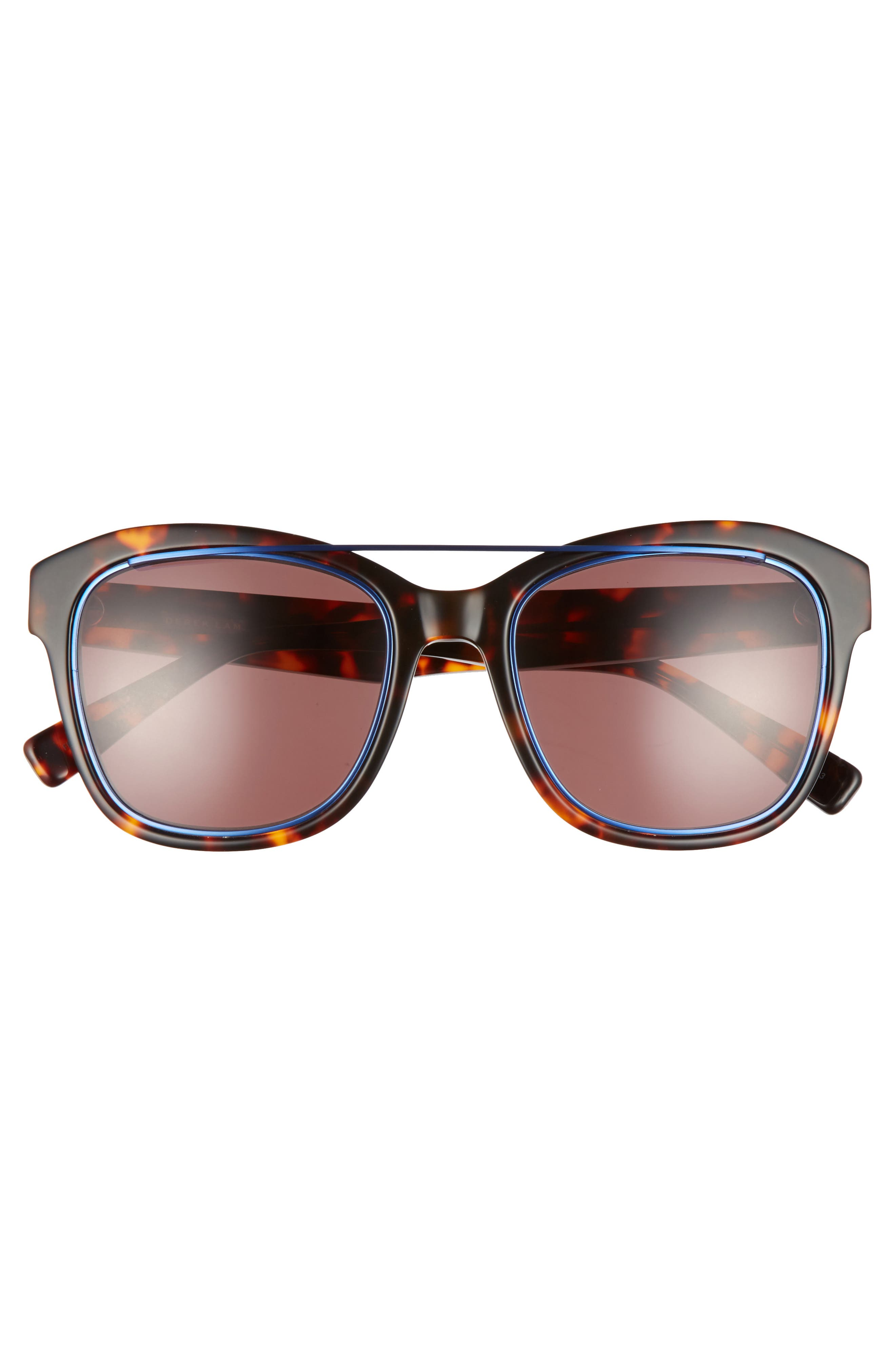 Hudson 52mm Gradient Sunglasses,                             Alternate thumbnail 3, color,                             HAVANA TORTOISE
