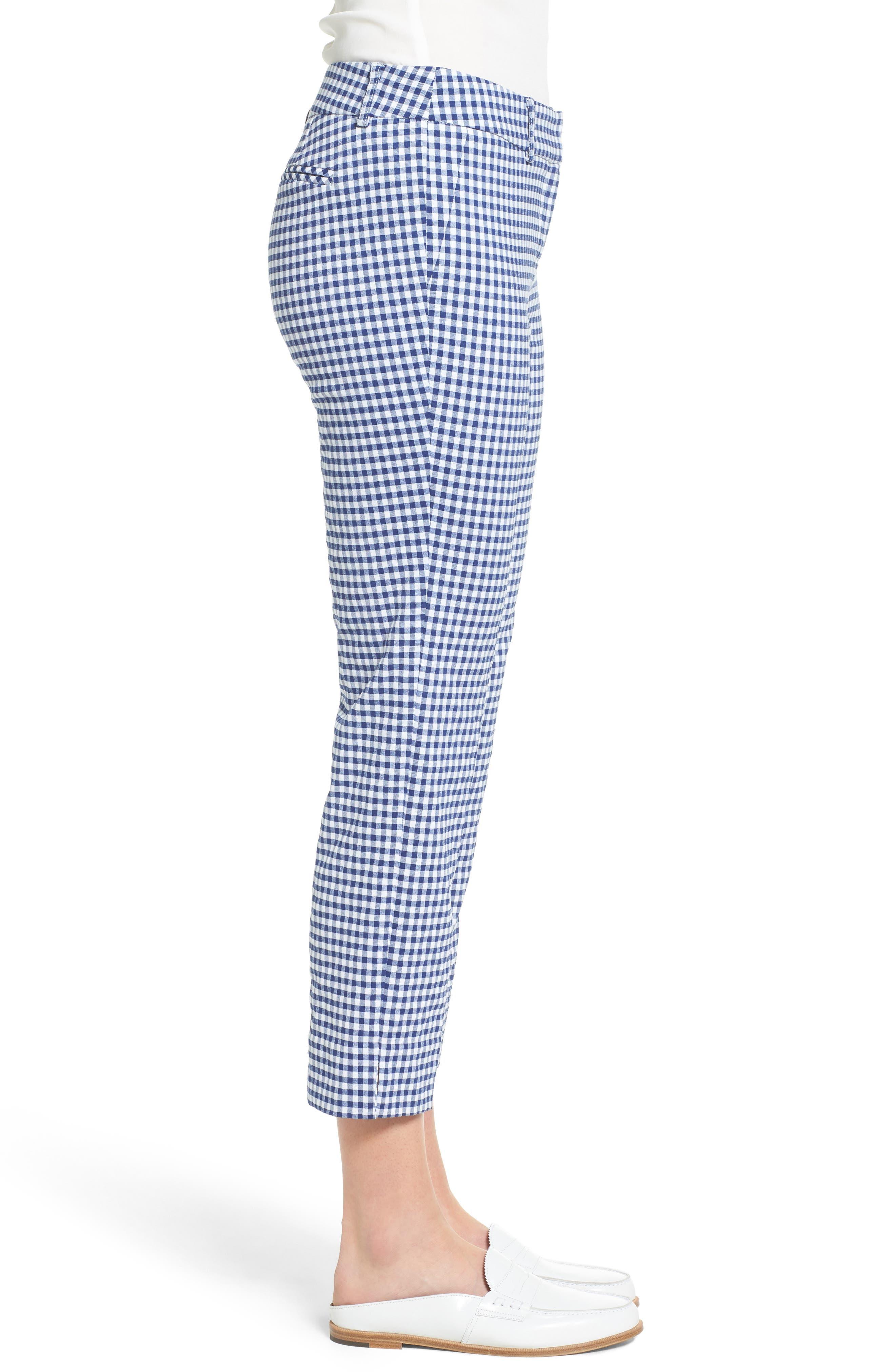 Crop Stretch Cotton Pants,                             Alternate thumbnail 58, color,