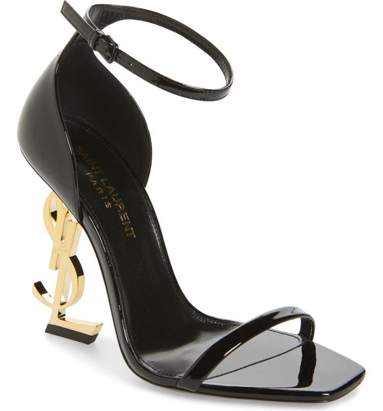 5e206f37a Saint Laurent Opyum 110 Logo Heel Sandals ... Saint Laurent Yves Ysl Opyum  Opium 110 Patent ...
