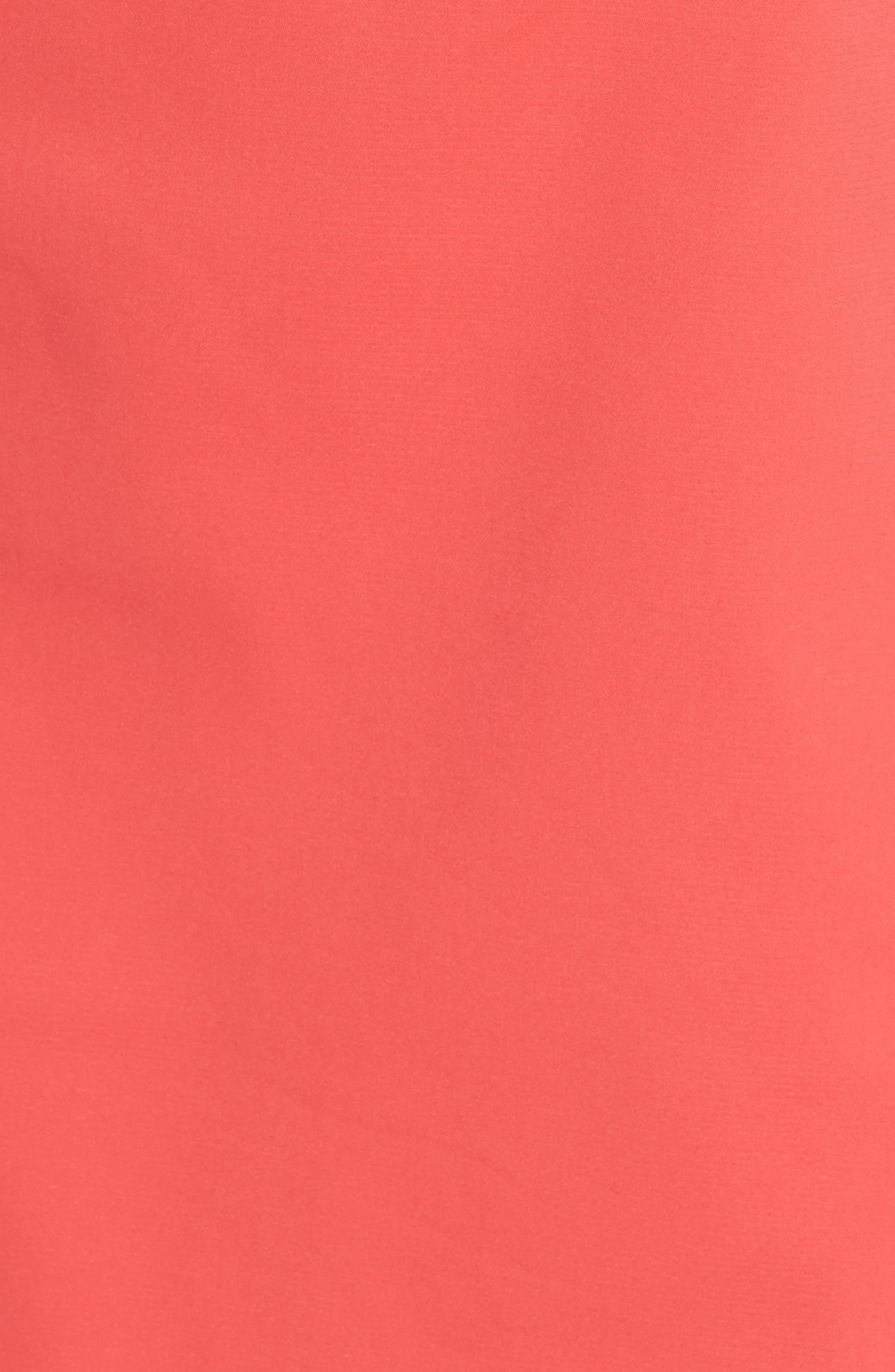Elsa Scalloped Sheath Dress,                             Alternate thumbnail 5, color,                             650