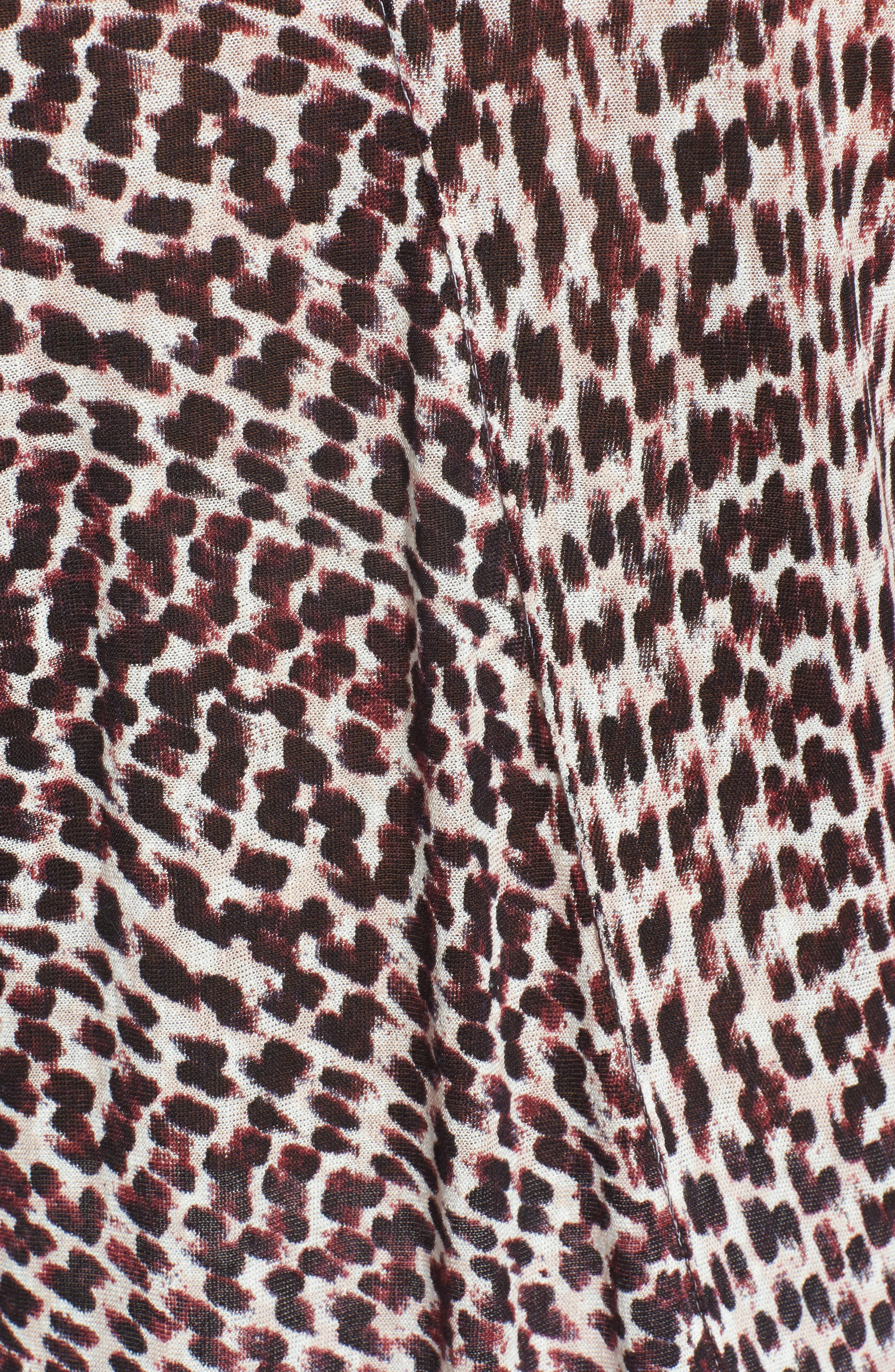 Ophelia Asymmetrical Linen Blend Swing Top,                             Alternate thumbnail 5, color,                             690