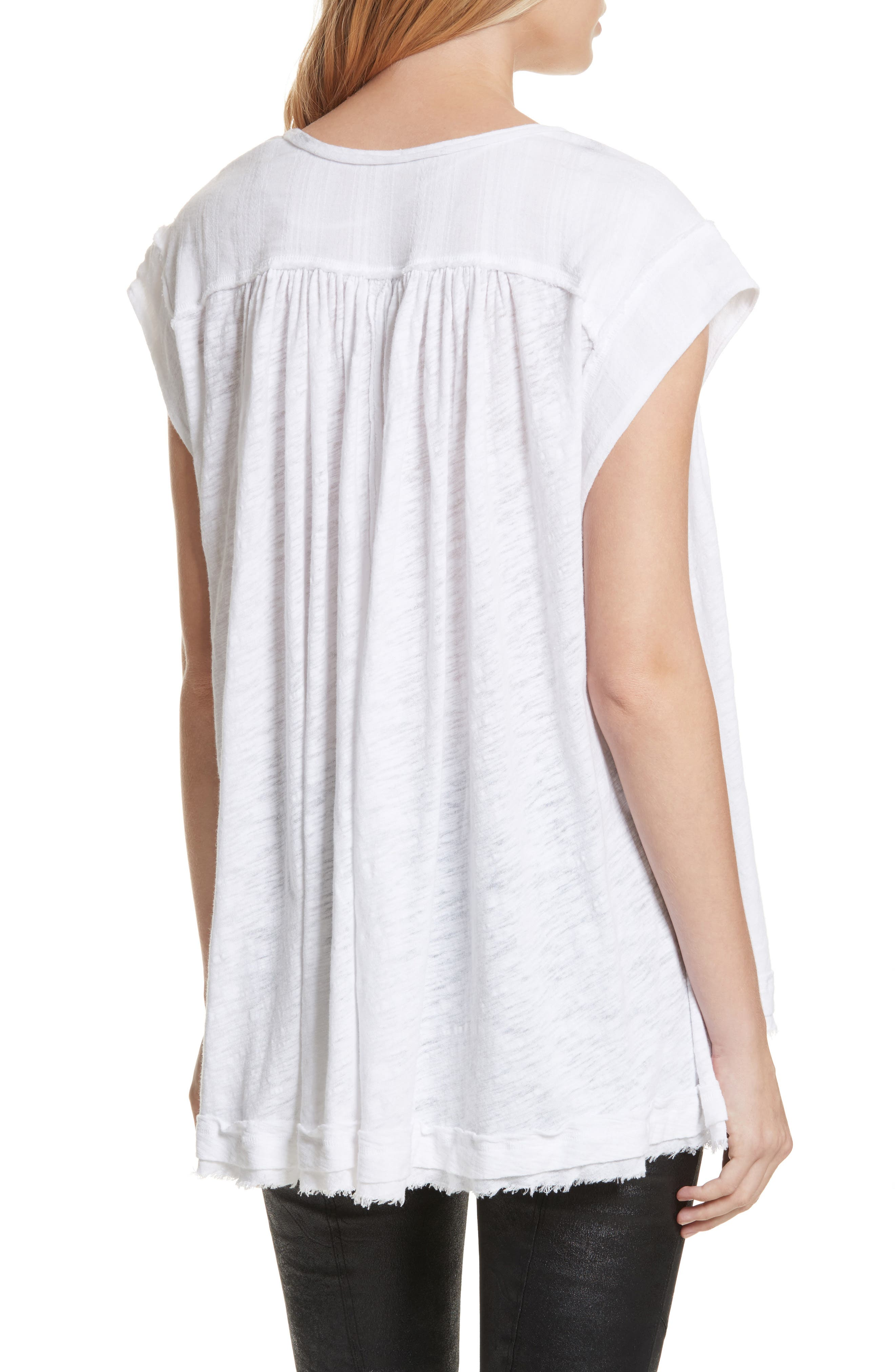 We the Free by Free People Aster Henley Top,                             Alternate thumbnail 2, color,                             WHITE